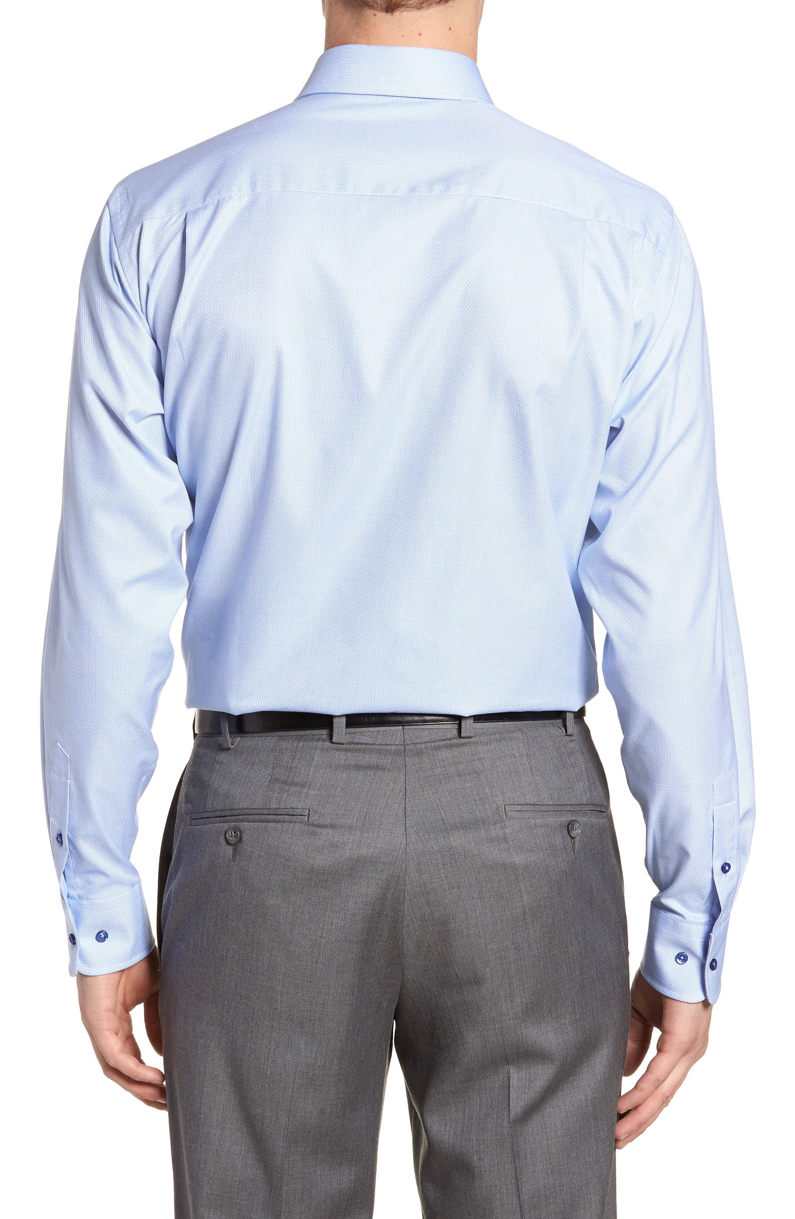 Slim Fit Solid Dress Shirt,                             Alternate thumbnail 3, color,                             423