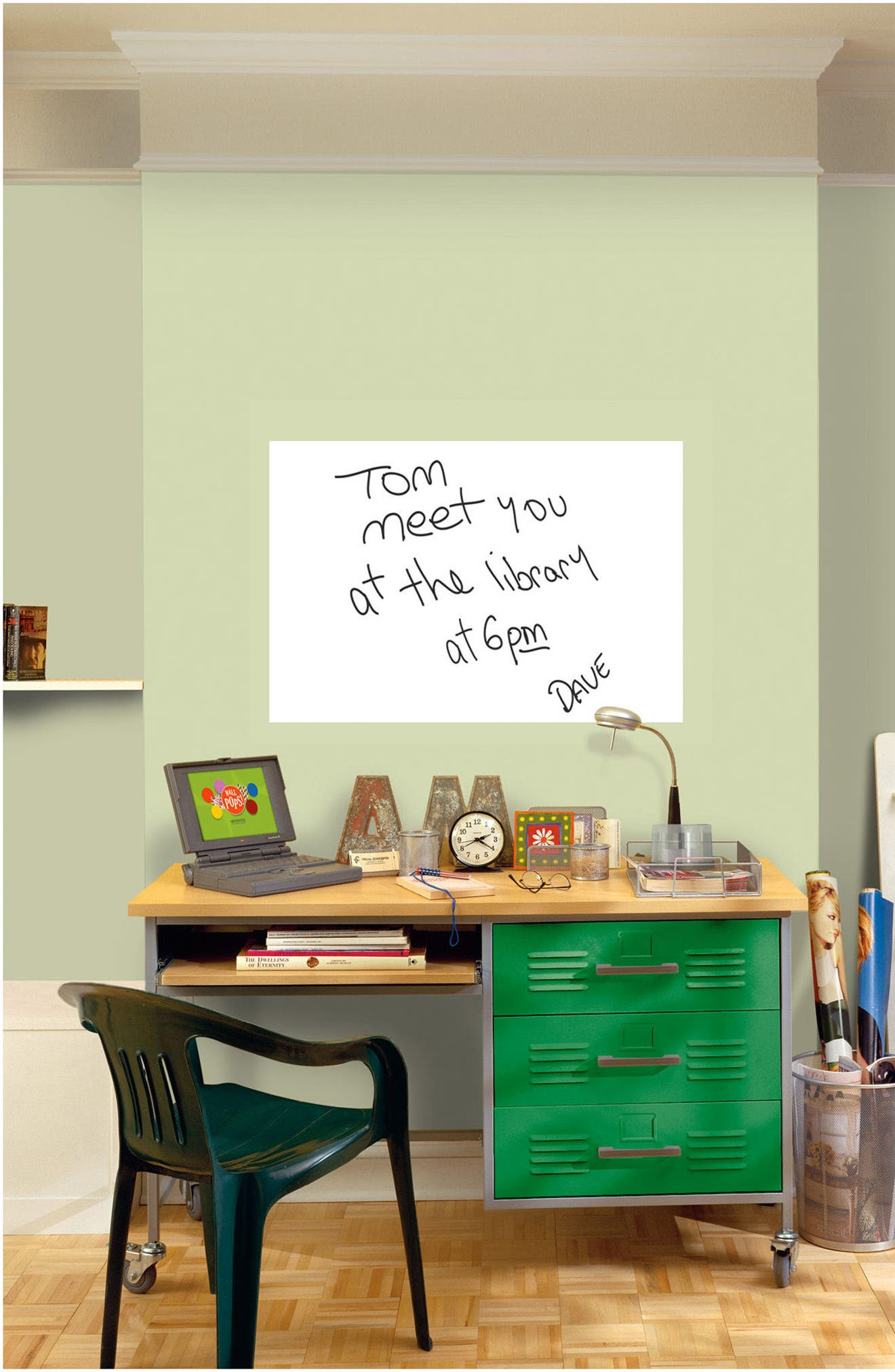 Set of 2 Dry Erase Wall Decals,                             Alternate thumbnail 2, color,                             100