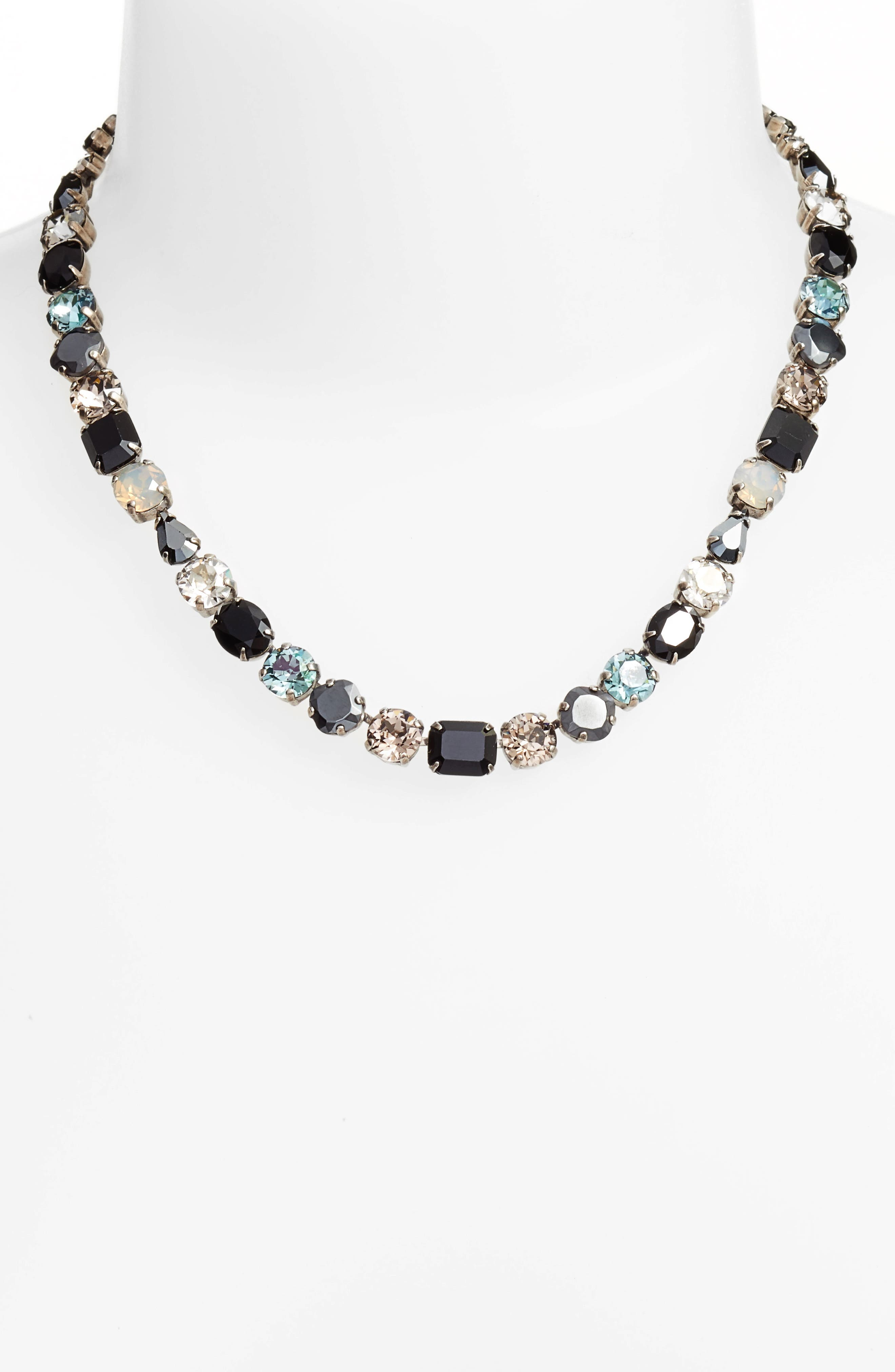 Tansy Line Crystal Necklace,                             Alternate thumbnail 2, color,                             001