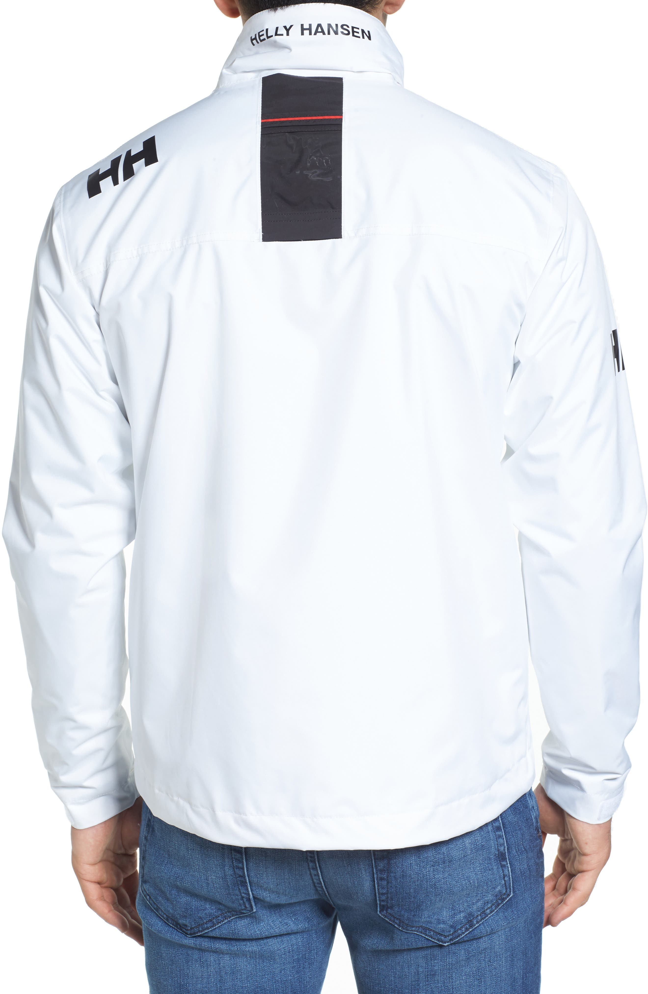 'Crew' Waterproof & Windproof Jacket,                             Alternate thumbnail 2, color,                             BRIGHT WHITE