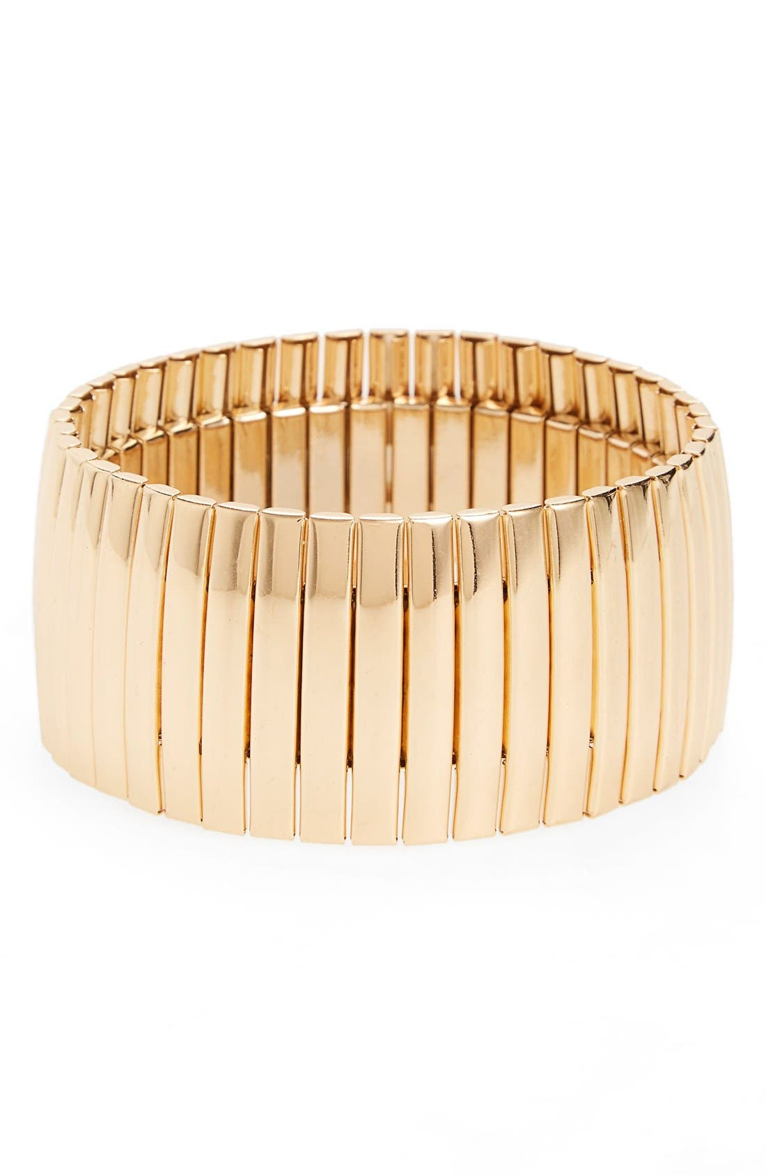 Metallic Stretch Bracelet,                             Main thumbnail 2, color,