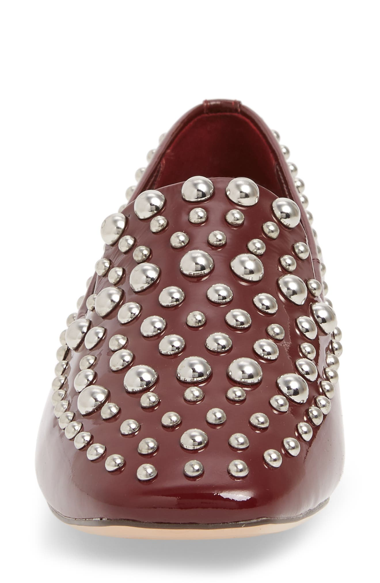 Kaylee Loafer,                             Alternate thumbnail 4, color,                             BERRY PATENT LEATHER