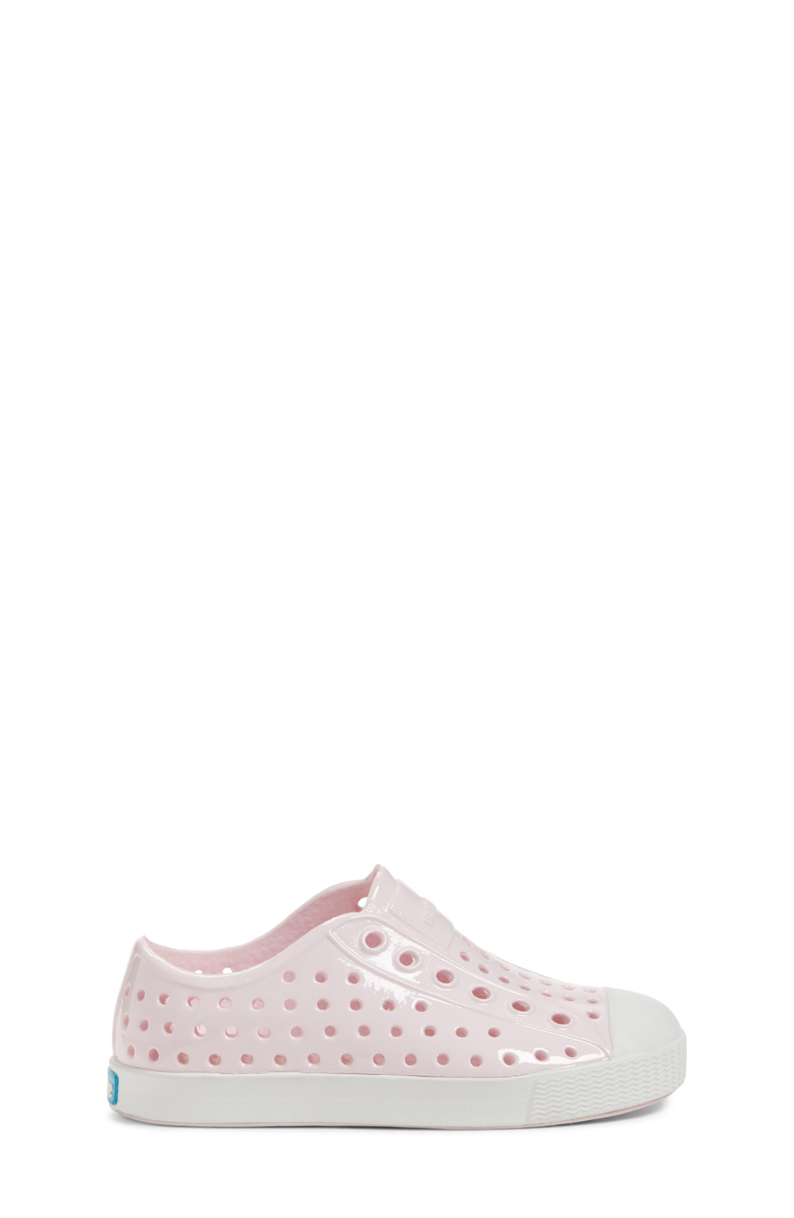 Jefferson Glossy Slip-On Sneaker,                             Alternate thumbnail 3, color,                             MILK PINK/ SHELL WHITE