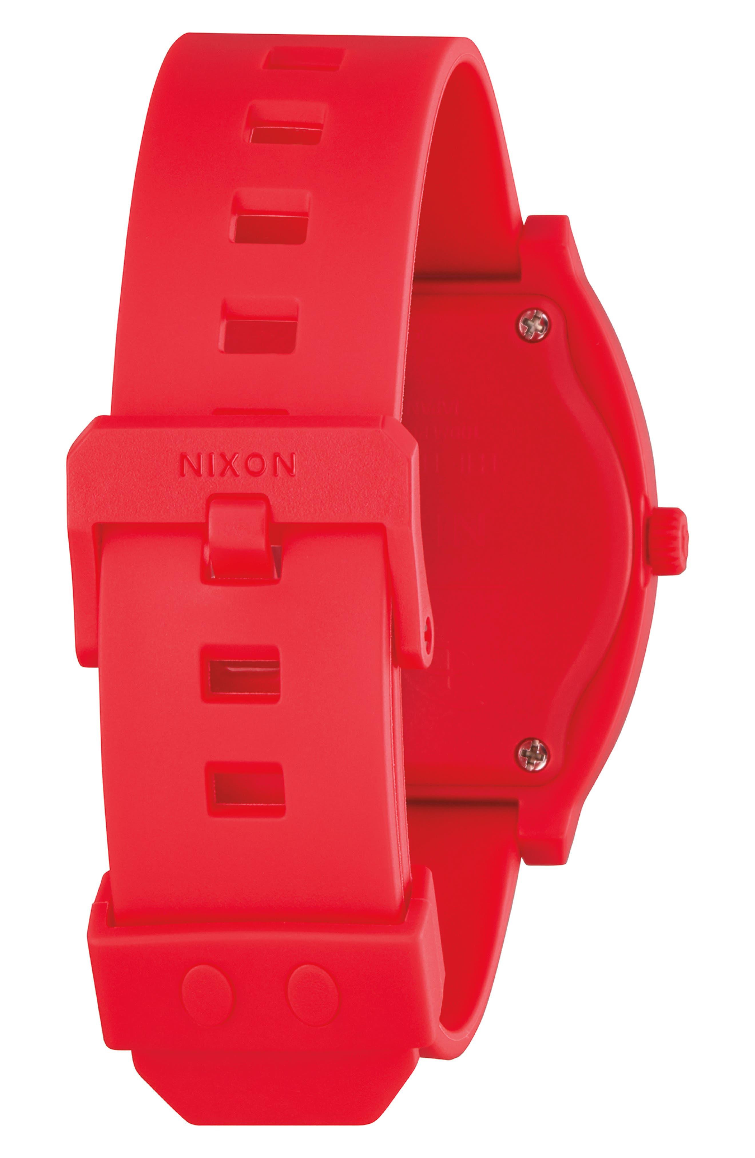 NIXON,                             x Disney Time Teller Strap Watch, 40mm,                             Alternate thumbnail 2, color,                             RED/ BLACK/ RED