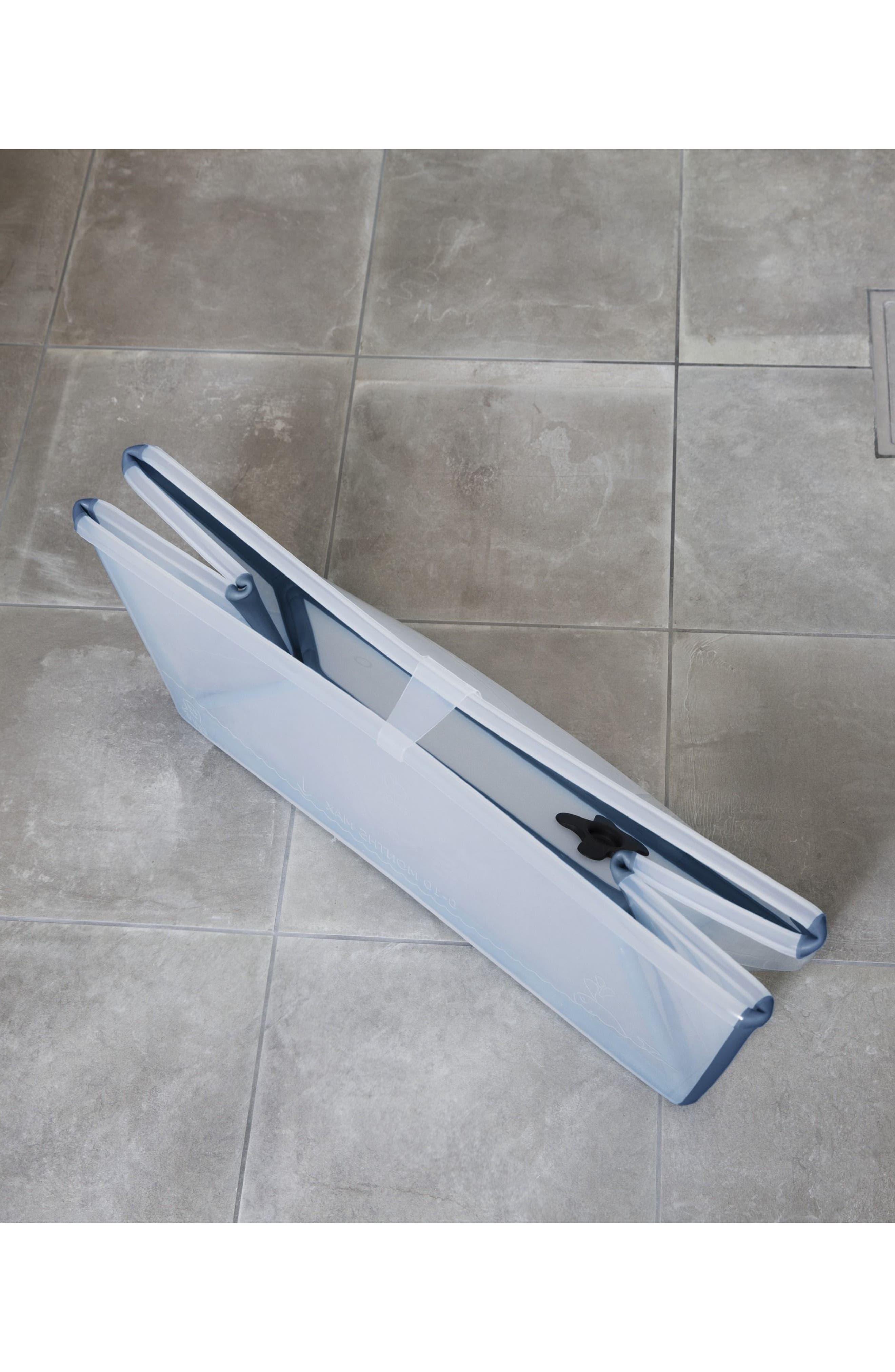 'Flexi Bath<sup>®</sup>' Foldable Baby Bathtub,                             Alternate thumbnail 6, color,                             TRANSPARENT BLUE