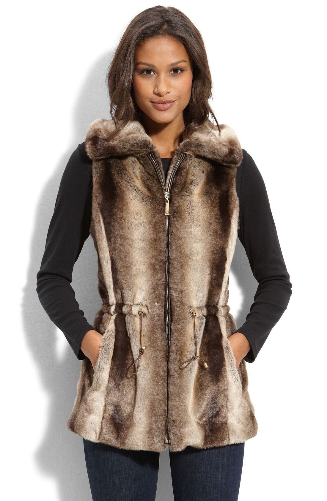 Faux Fur Vest, Main, color, 210