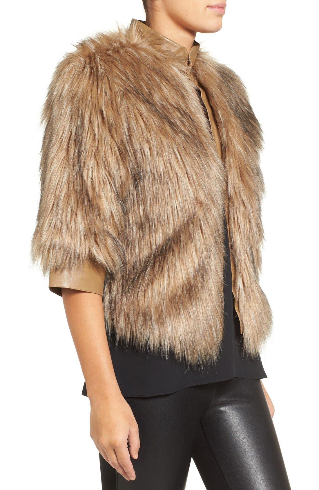 Faux Fur Jacket,                             Alternate thumbnail 3, color,                             250