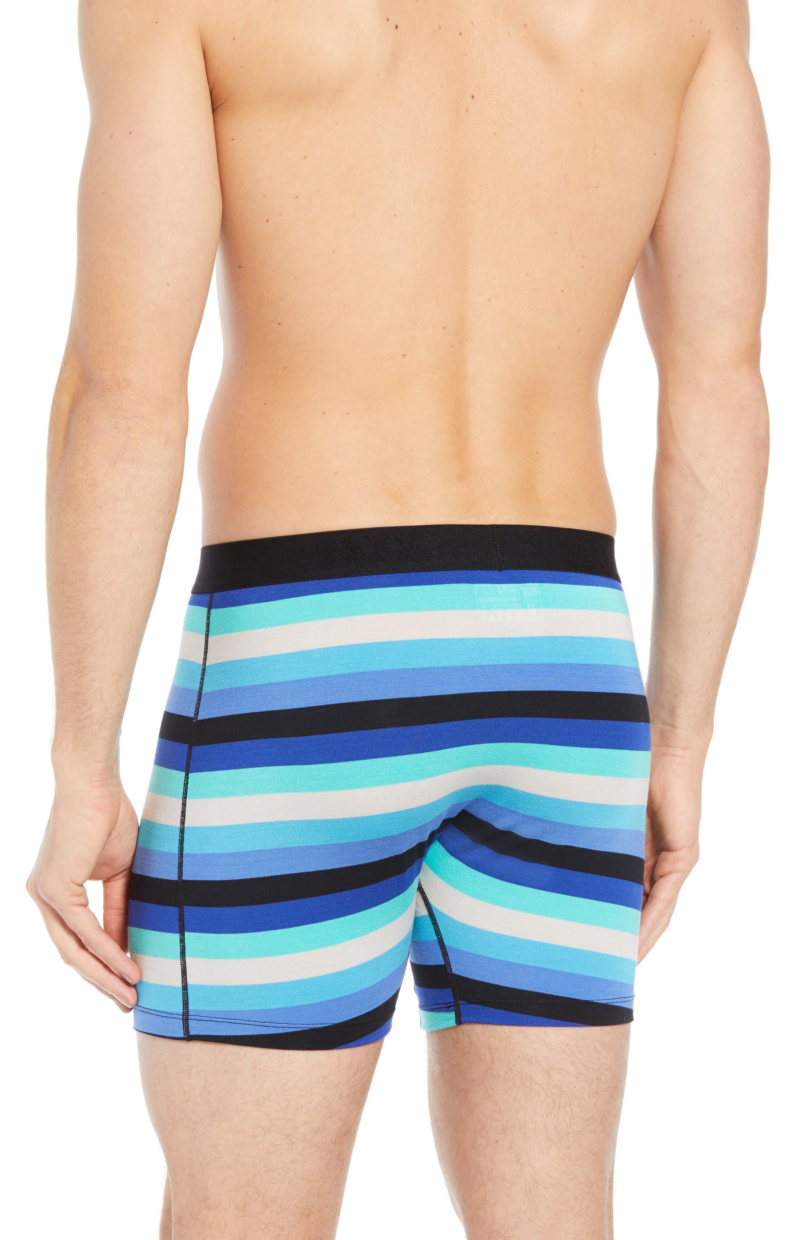 Ultra Cabana Stripe Stretch Boxer Briefs,                             Alternate thumbnail 2, color,                             BLUE CABANA STRIPE