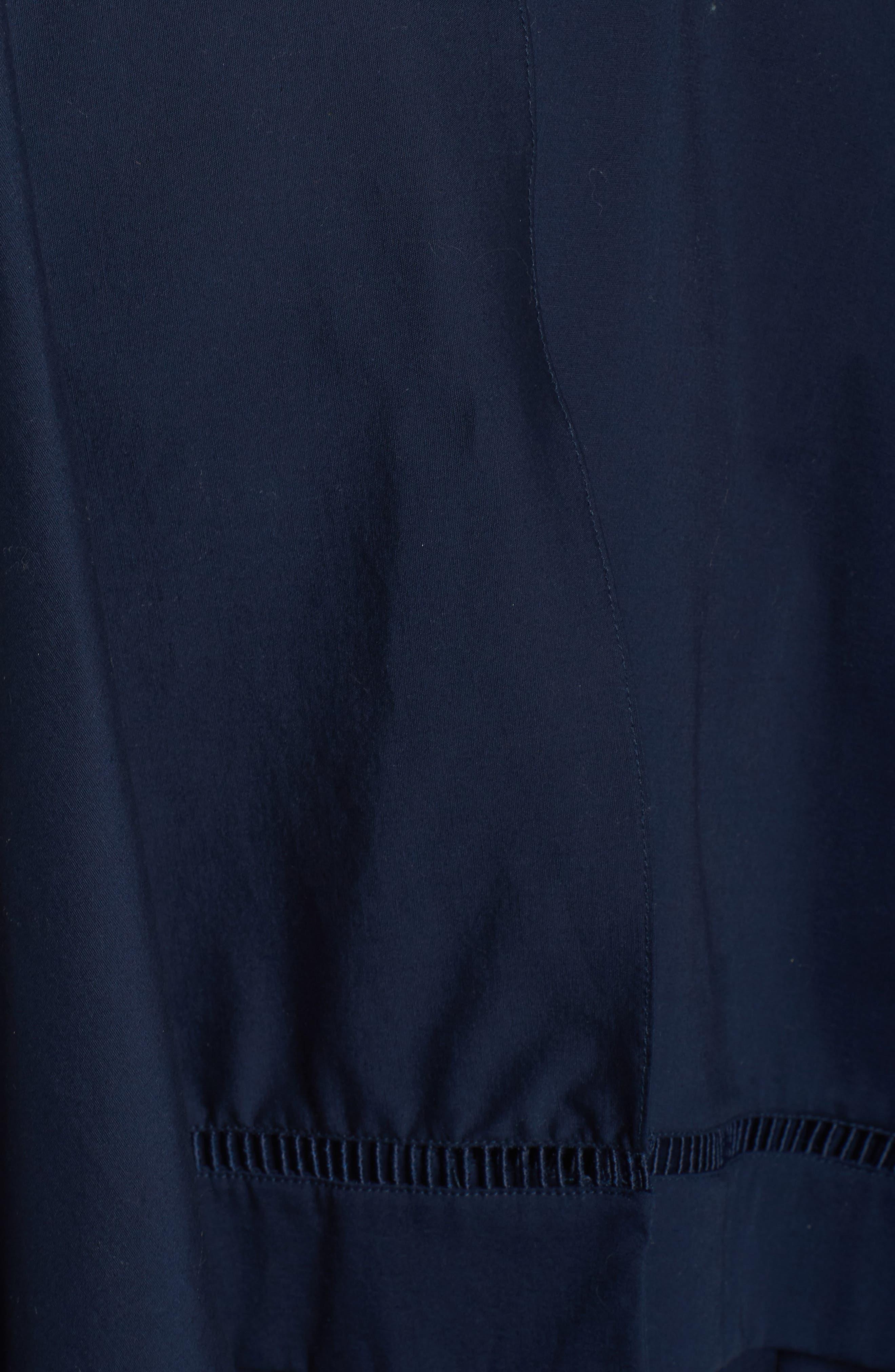 Handkerchief Hem Fit & Flare Dress,                             Alternate thumbnail 5, color,