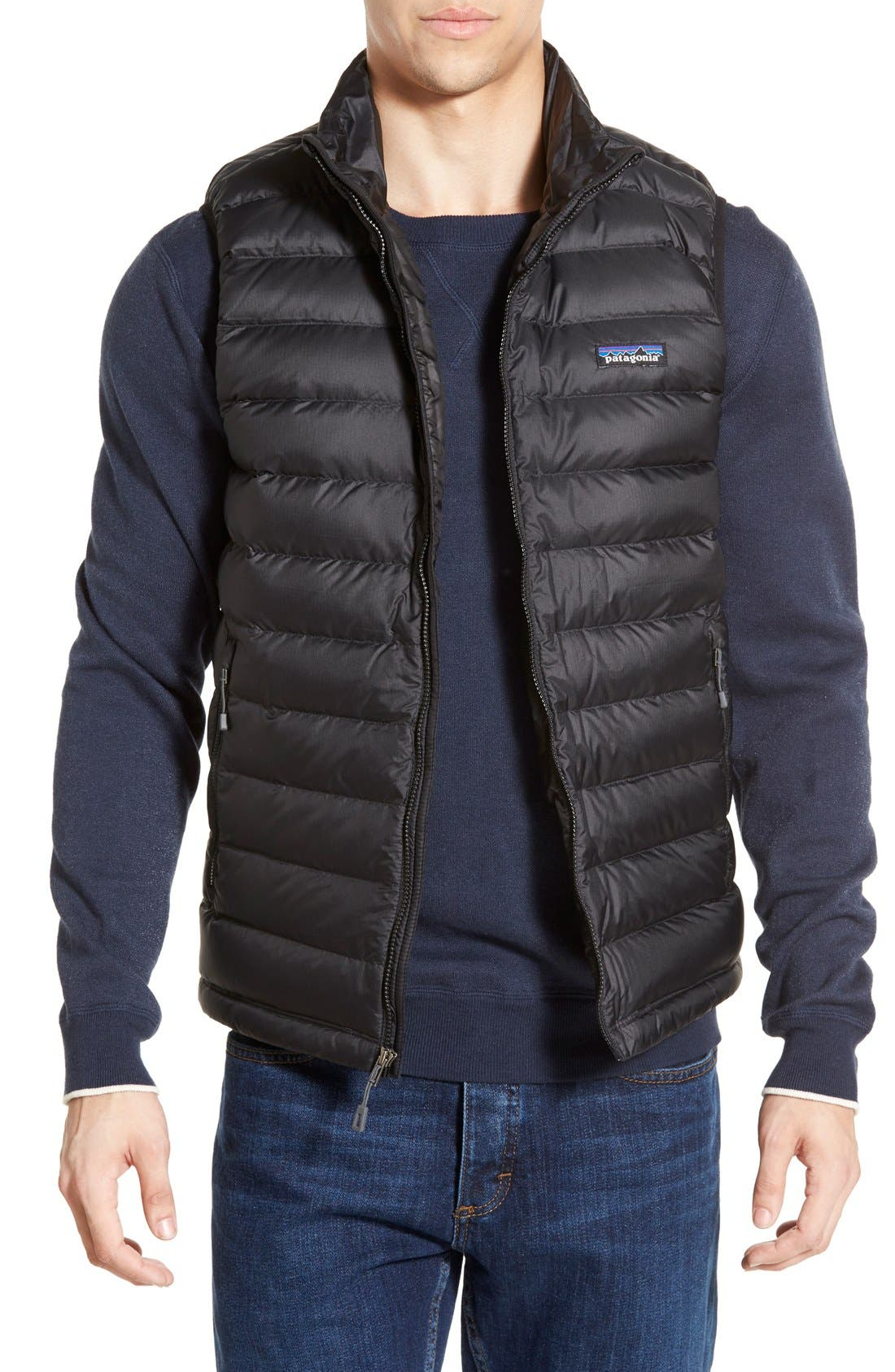 Windproof & Water Resistant 800 Fill Power Down Quilted Vest,                             Main thumbnail 7, color,