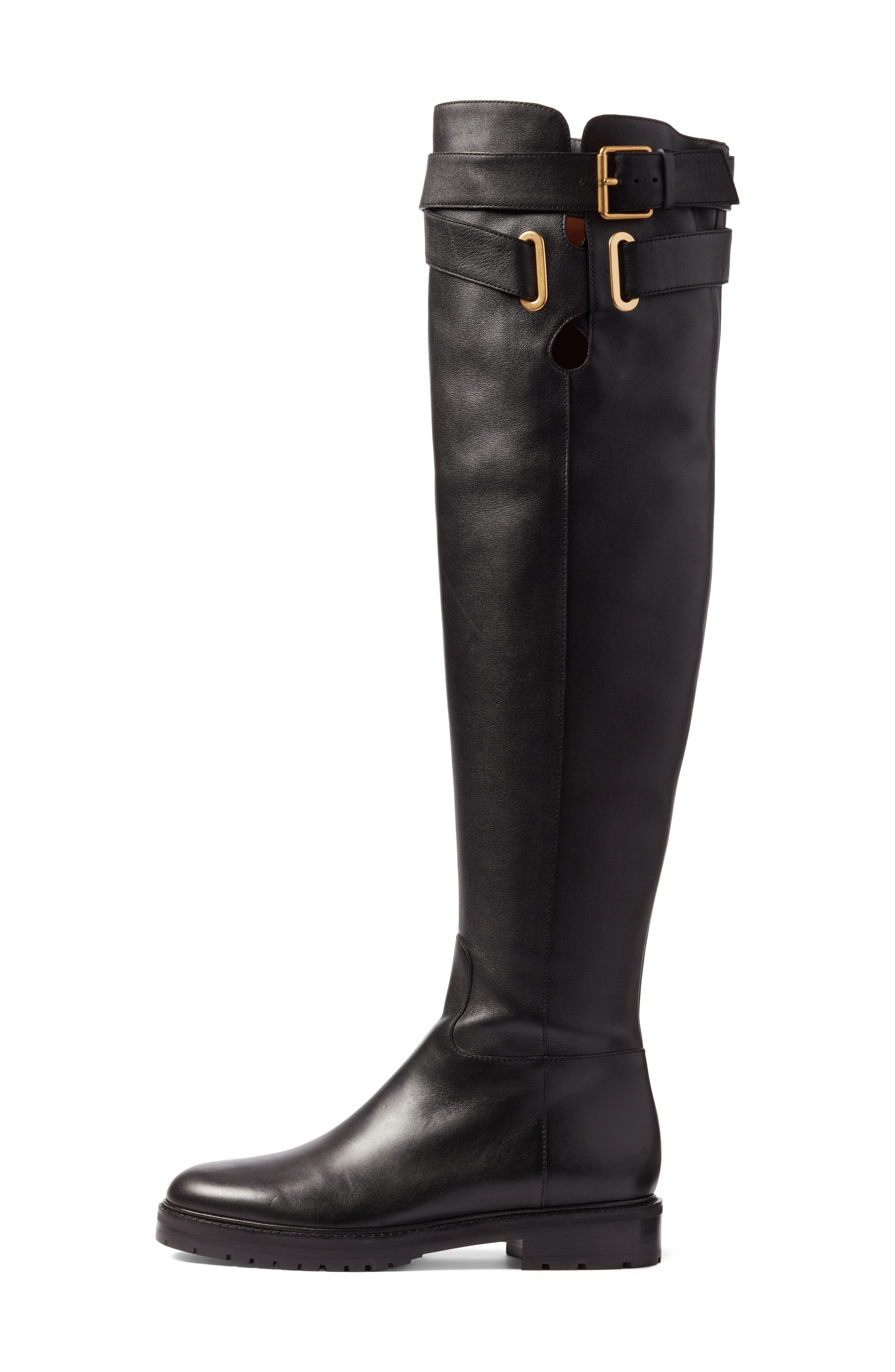 Bowrap Over the Knee Boot,                             Alternate thumbnail 3, color,                             001
