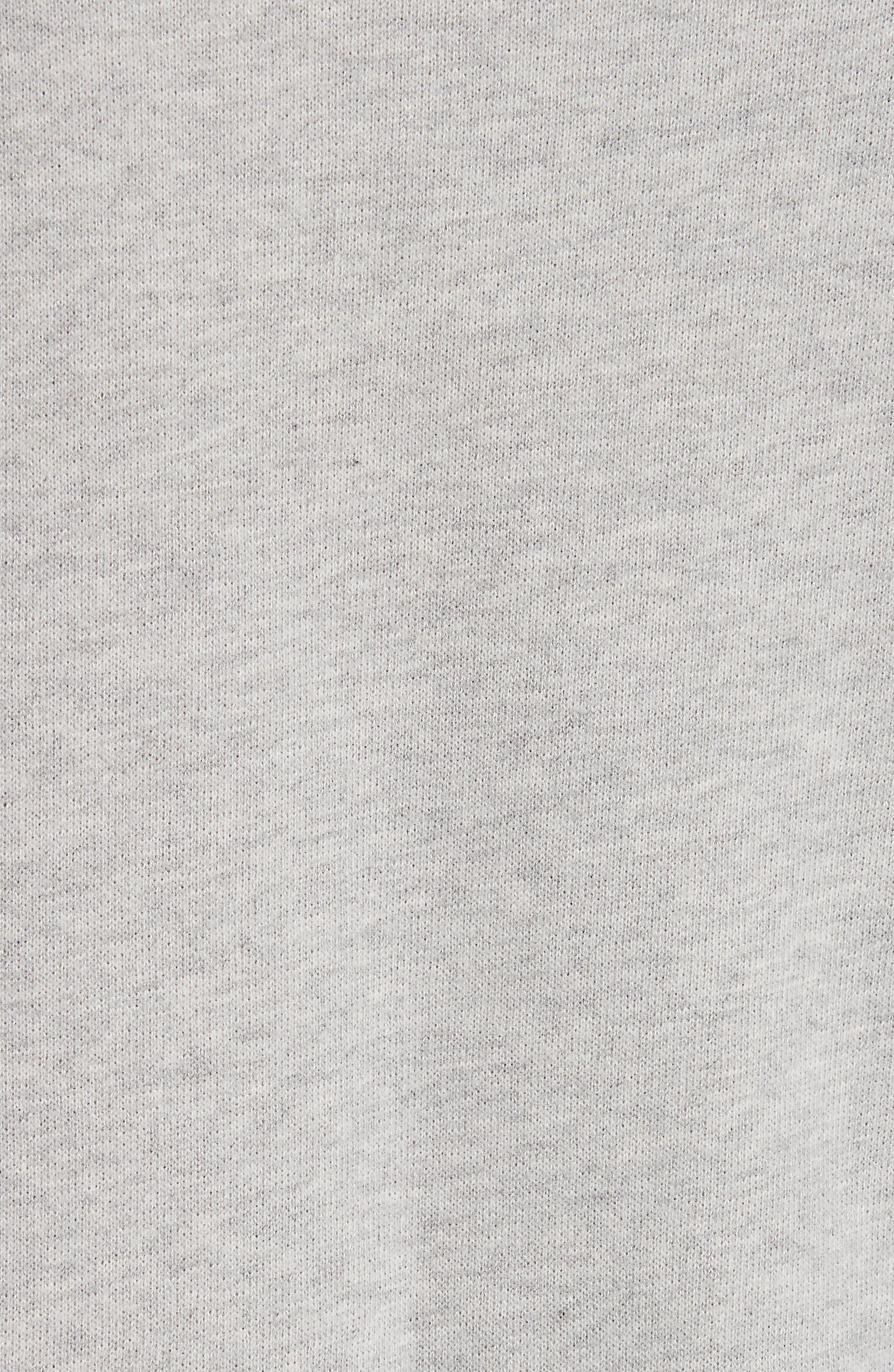 Cotton Sweatshirt,                             Alternate thumbnail 5, color,                             HEATHER GREY