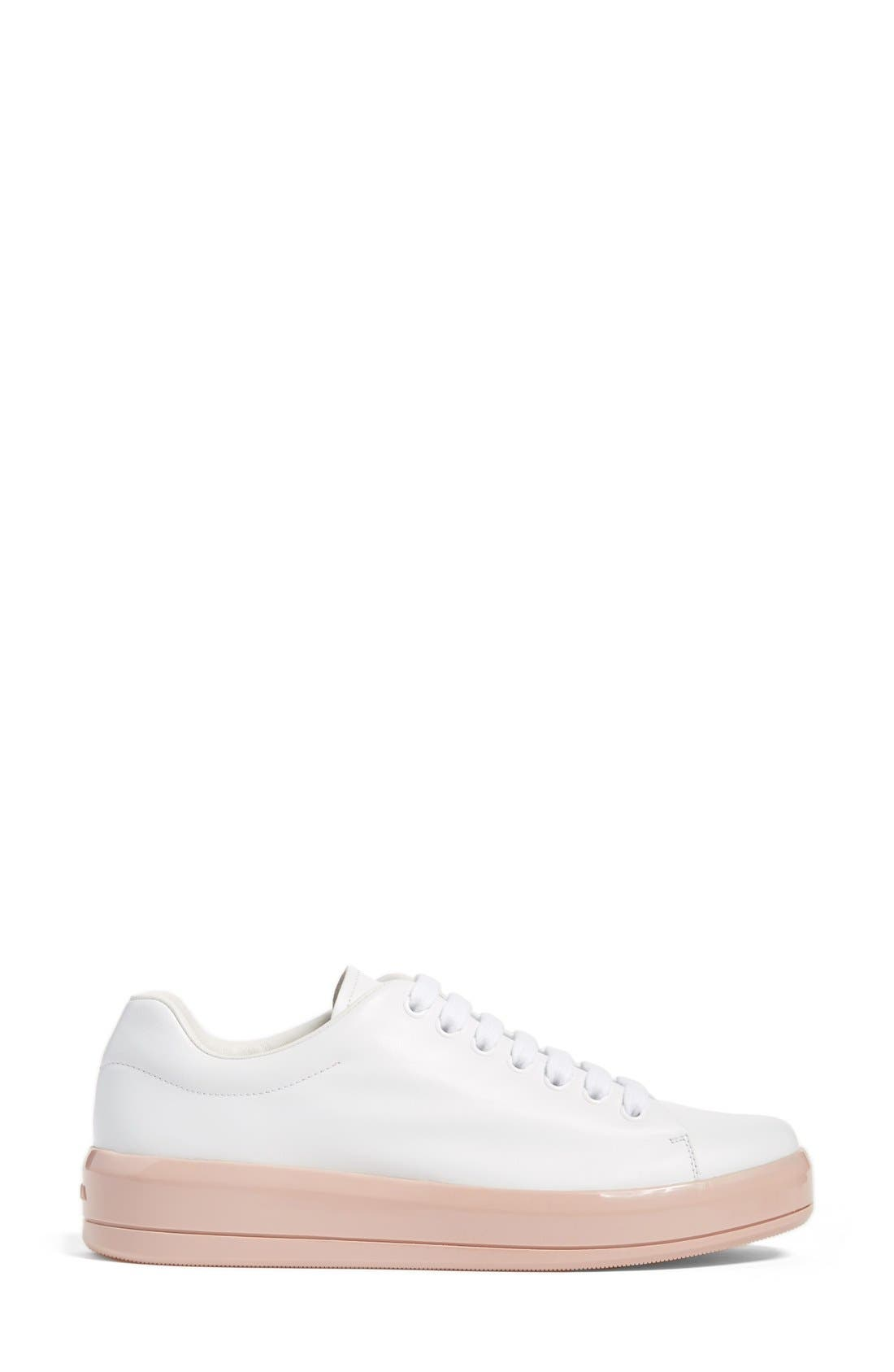 Platform Lace-Up Sneaker,                             Alternate thumbnail 4, color,                             100
