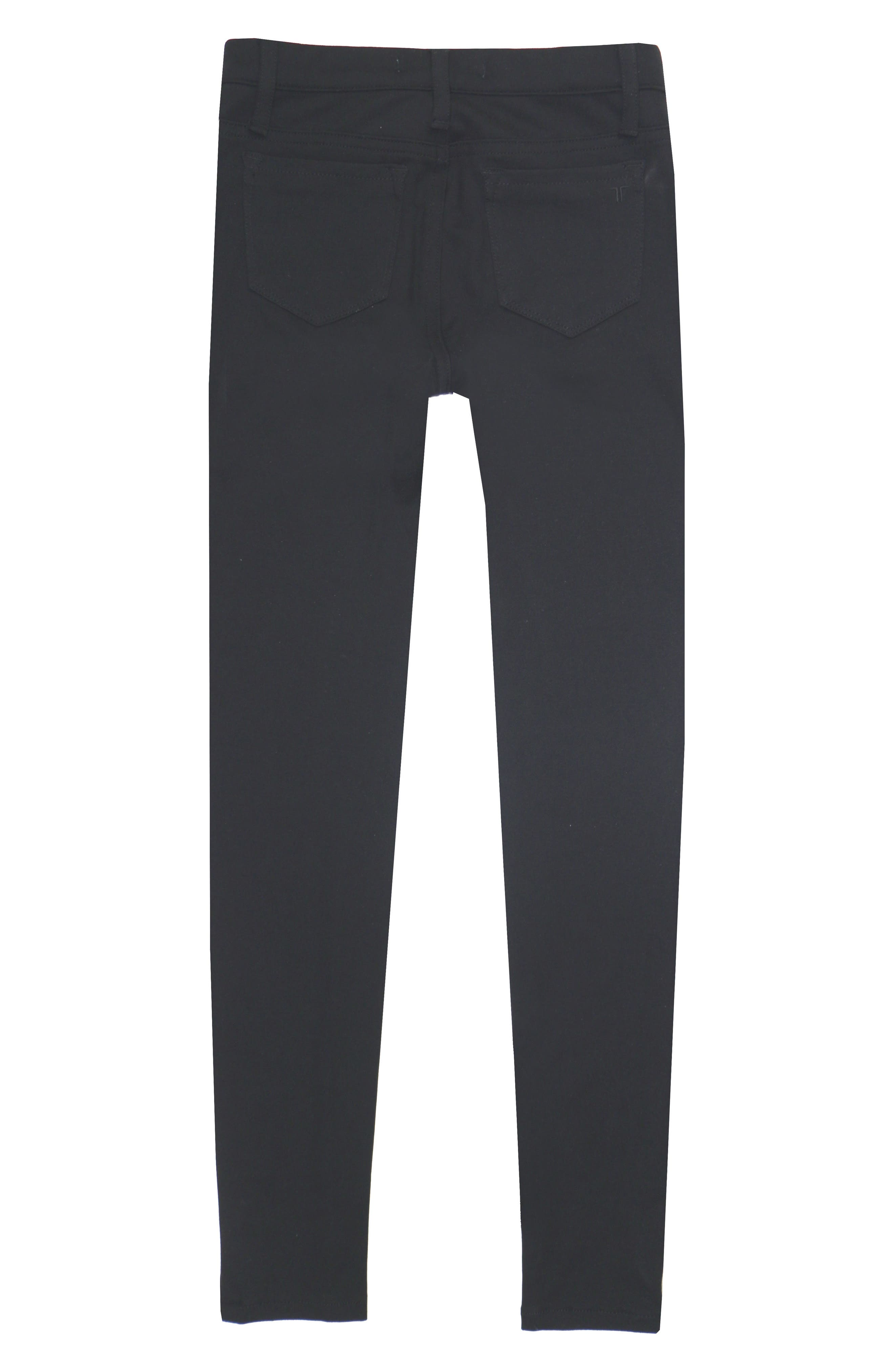 Ponte Knit Skinny Jeans,                             Alternate thumbnail 2, color,                             BLACK