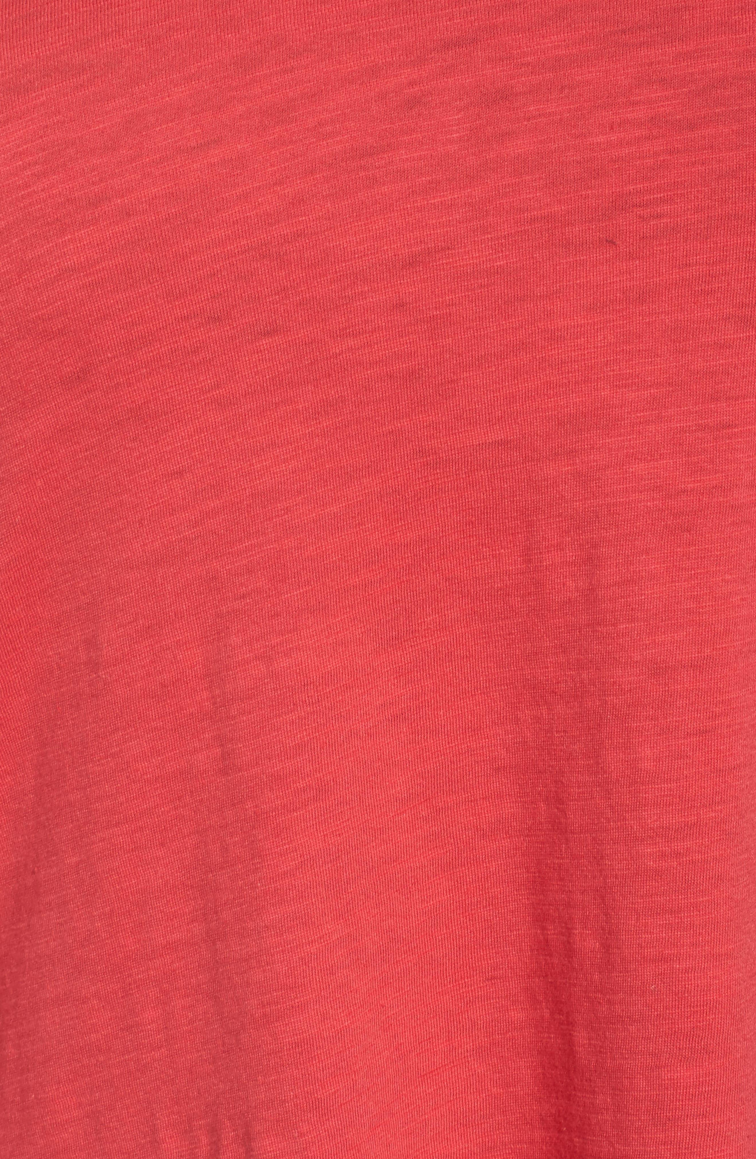 Organic Cotton V-Neck Top,                             Alternate thumbnail 35, color,