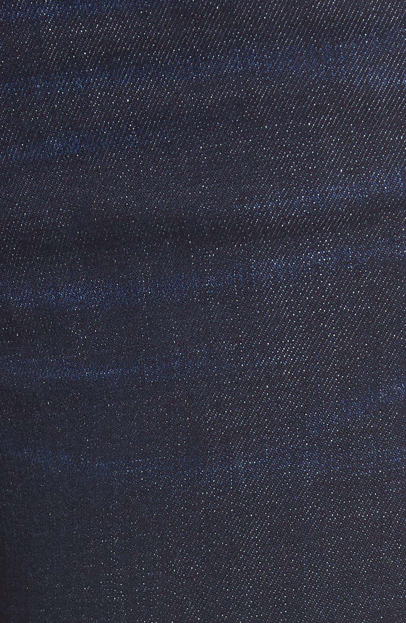 The Bond Metallic Side Stripe Skinny Jeans,                             Alternate thumbnail 6, color,                             400