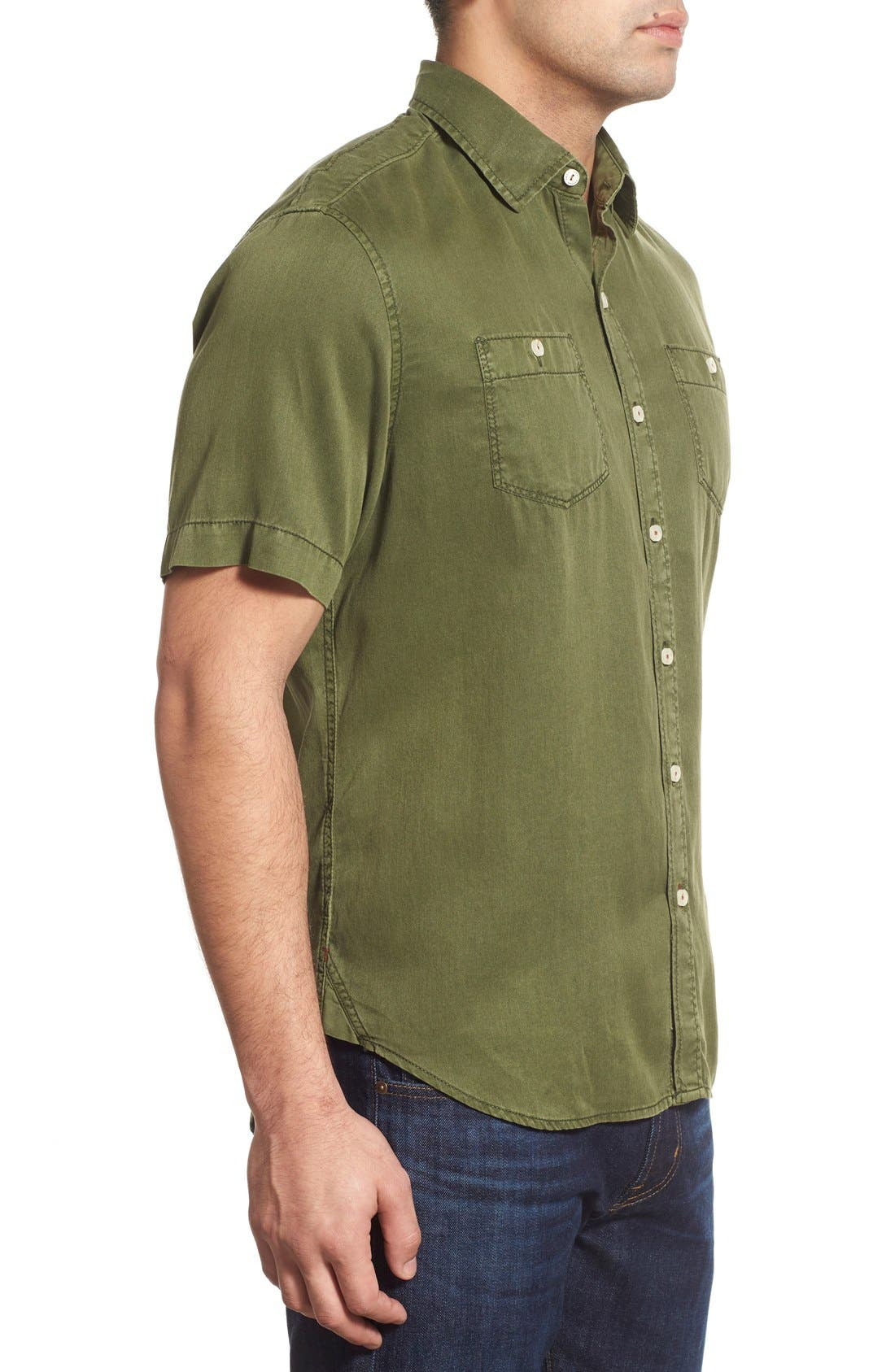 'New Twilly' Island Modern Fit Short Sleeve Twill Shirt,                             Alternate thumbnail 21, color,
