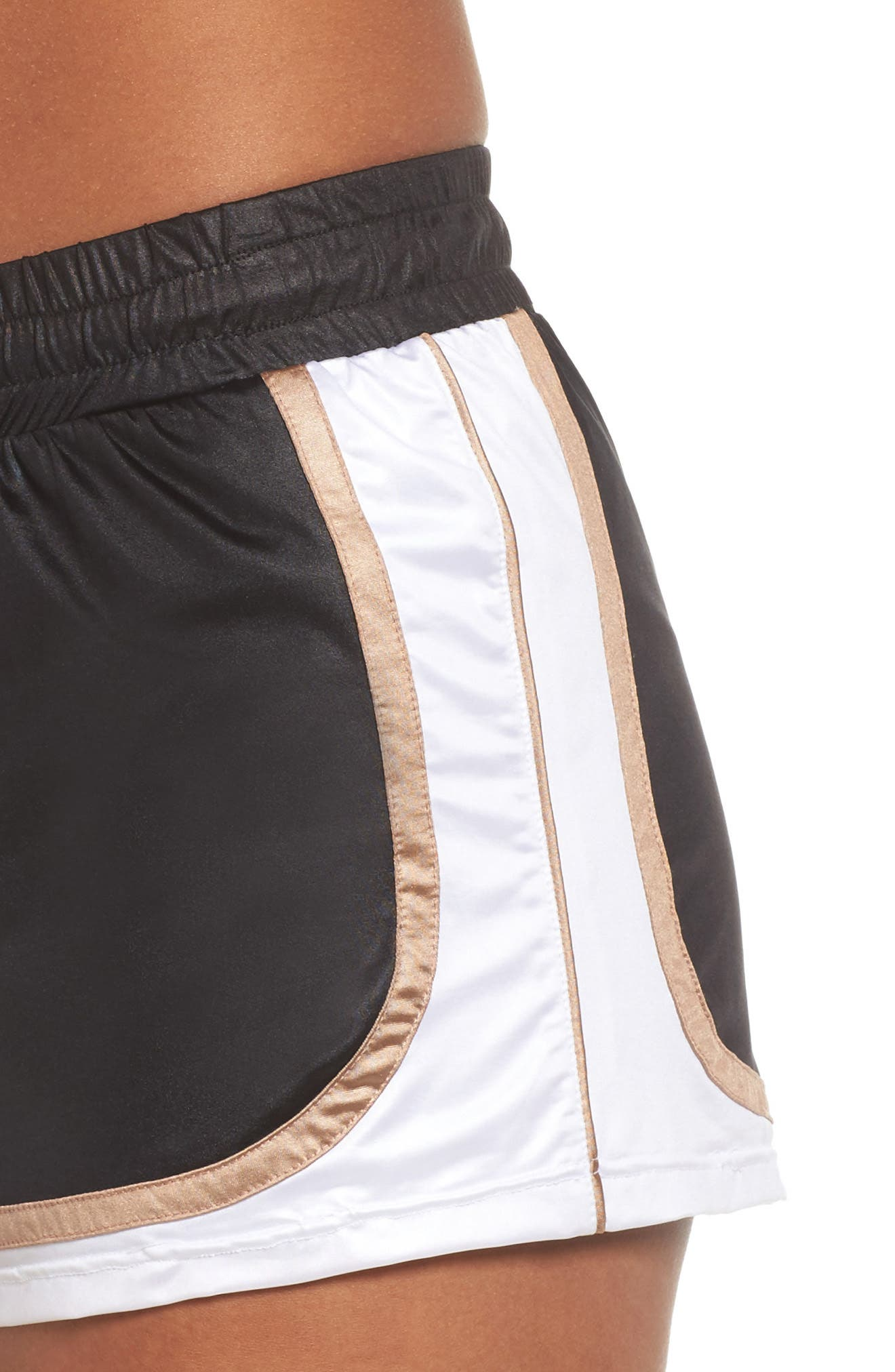 Blackout Shorts,                             Alternate thumbnail 4, color,                             BLACK/ NUDE/ WHITE