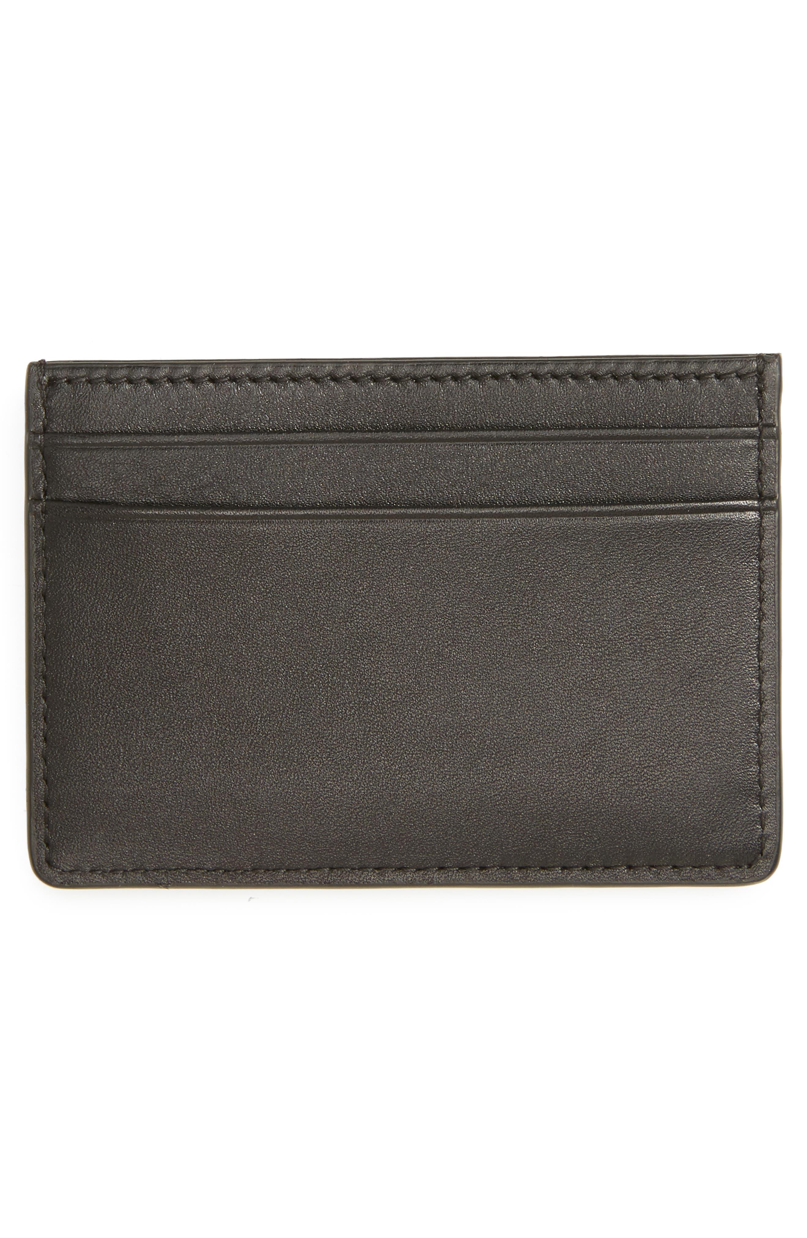 Focus Leather Card Case,                             Alternate thumbnail 2, color,                             001