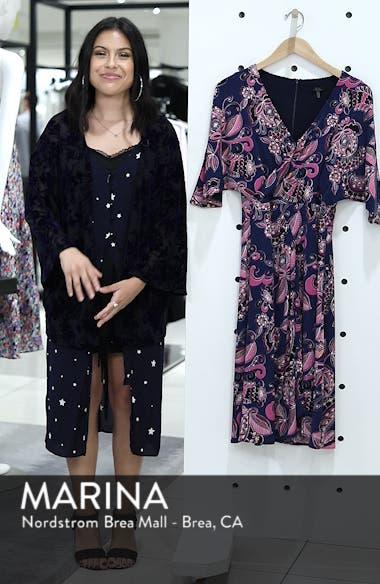 Payton Print Jersey Dress, sales video thumbnail