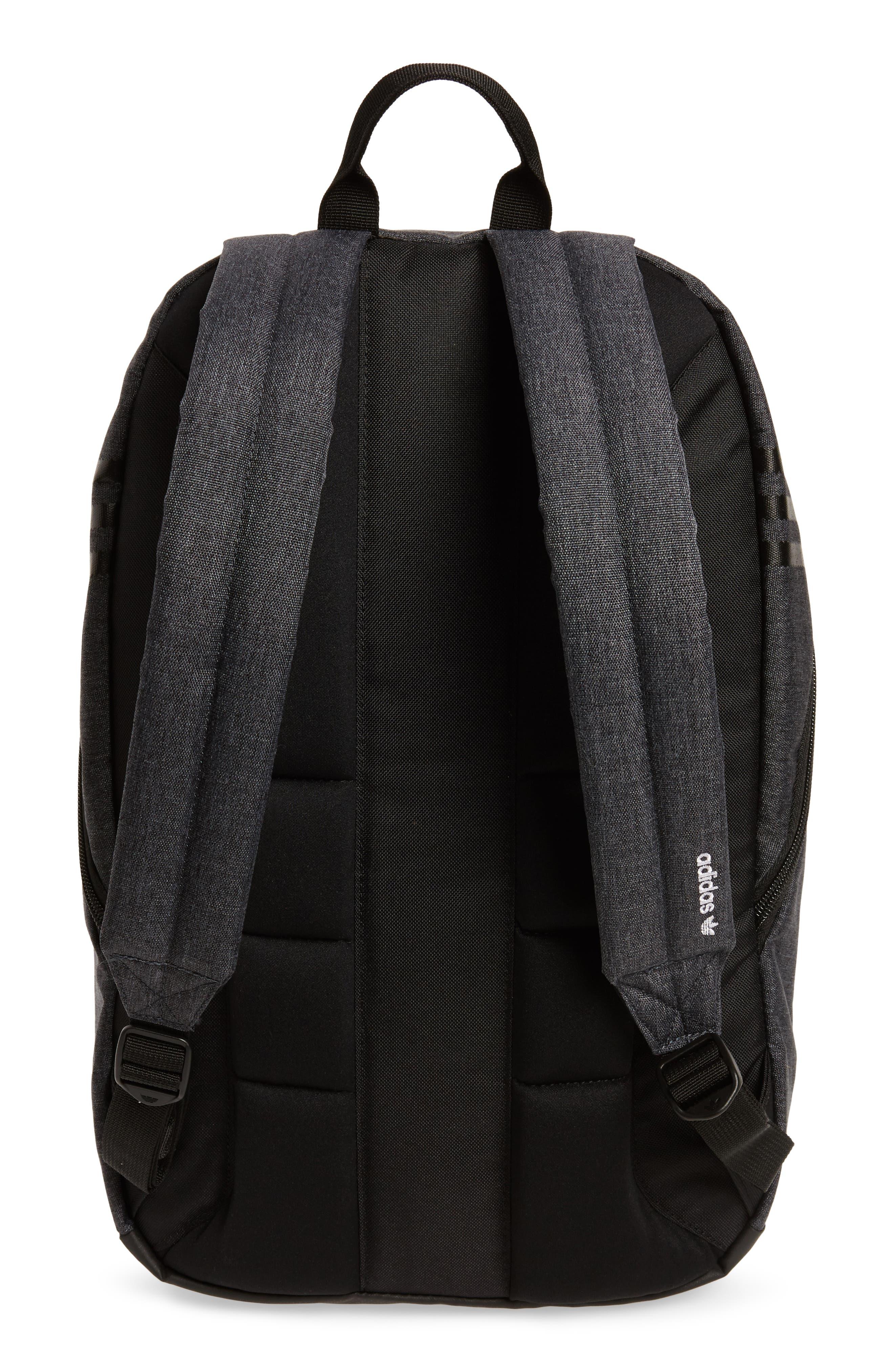 National Plus Backpack,                             Alternate thumbnail 3, color,                             BLACK/ GREY HEATHER/ WHITE