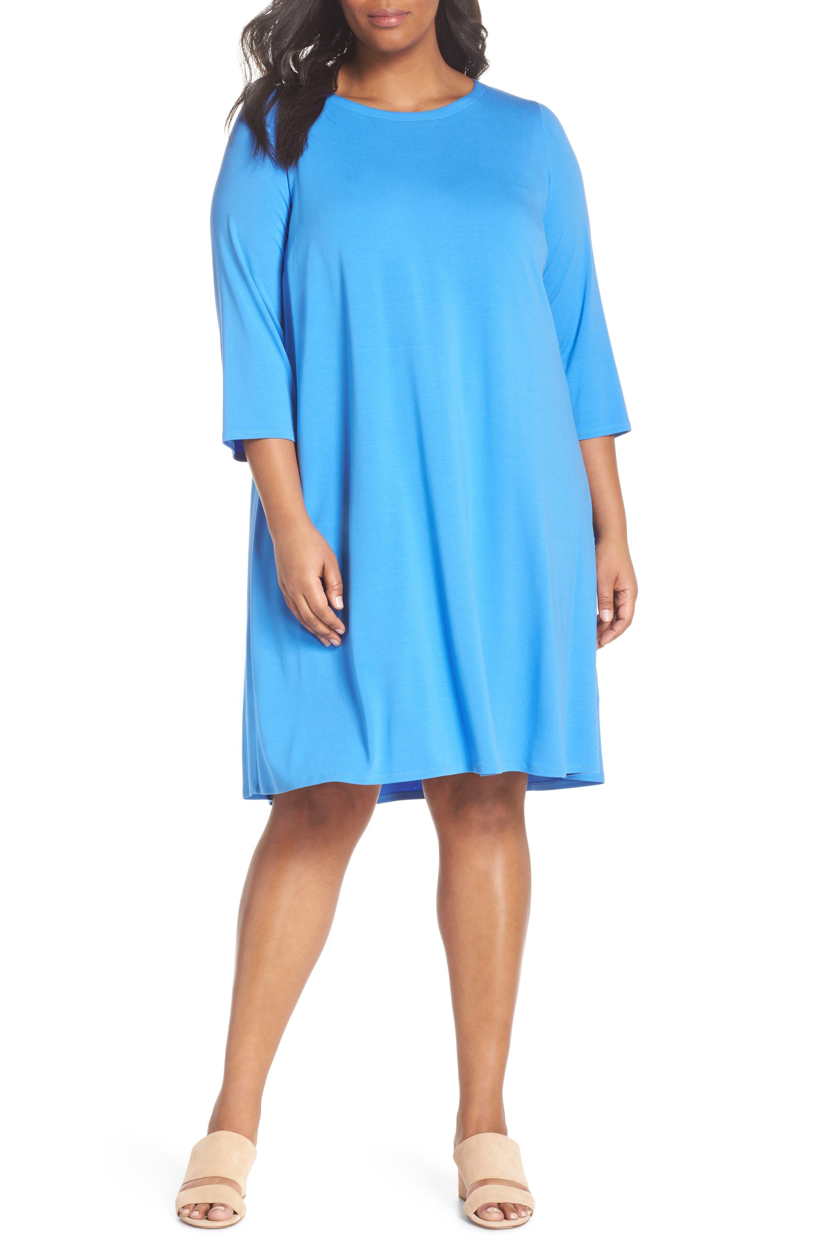 Jewel Neck Tie Back Dress,                             Main thumbnail 3, color,