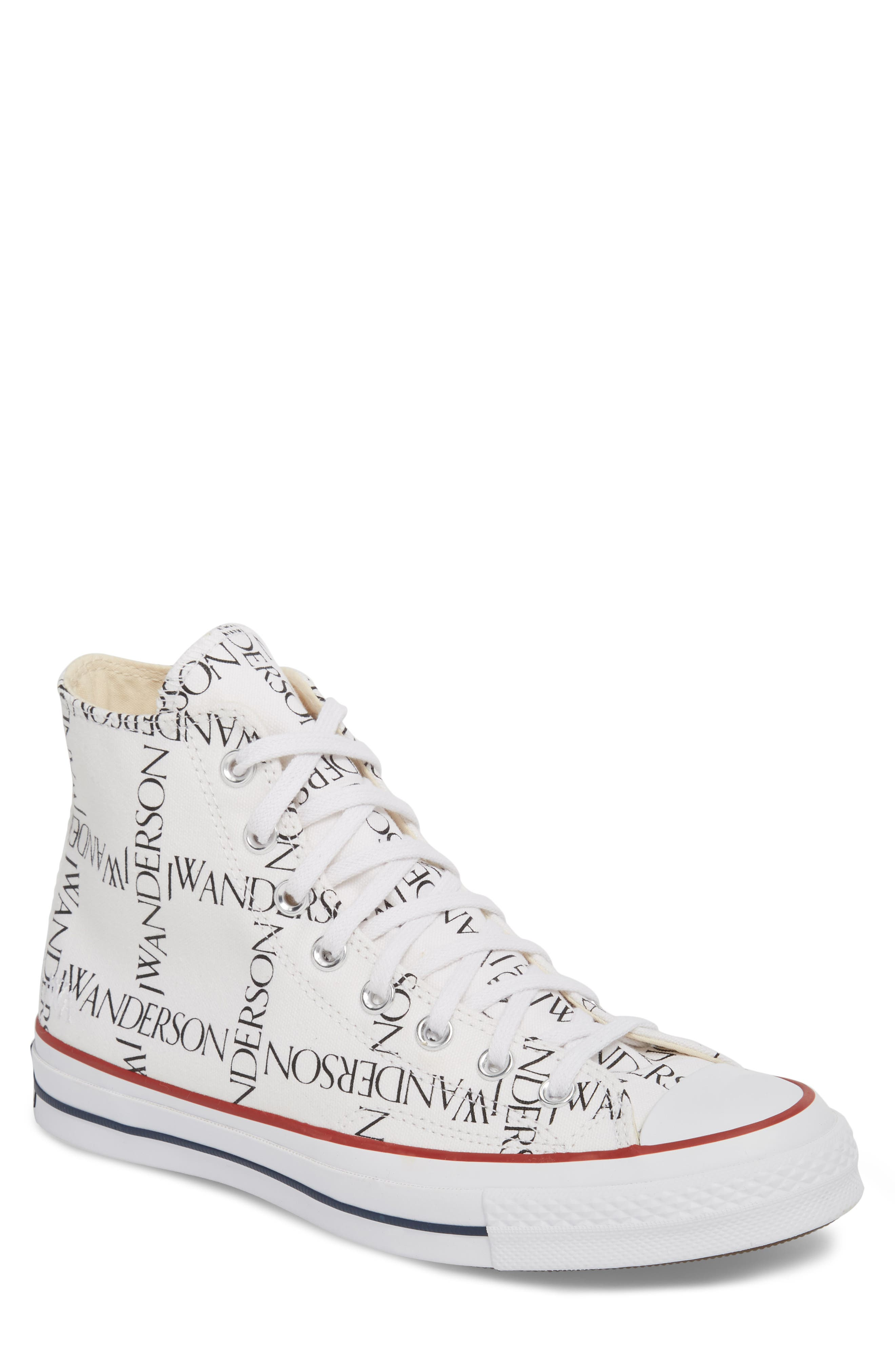 x JW Anderson Chuck Taylor<sup>®</sup> All Star<sup>®</sup> 70 Grid Sneaker,                             Main thumbnail 1, color,                             WHITE CANVAS