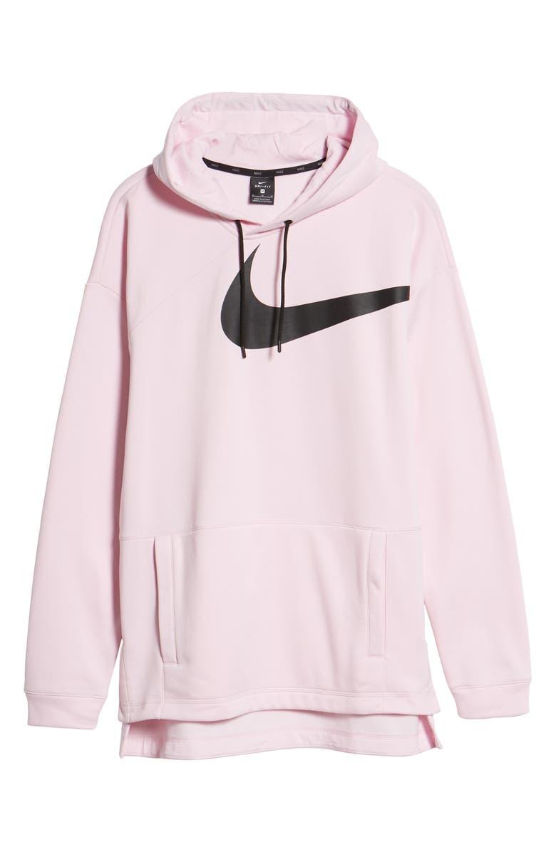 535b4b19 Shop Nike 3 Foam 0 Black Pink Fit In Therma Hoodie wFq1wC6
