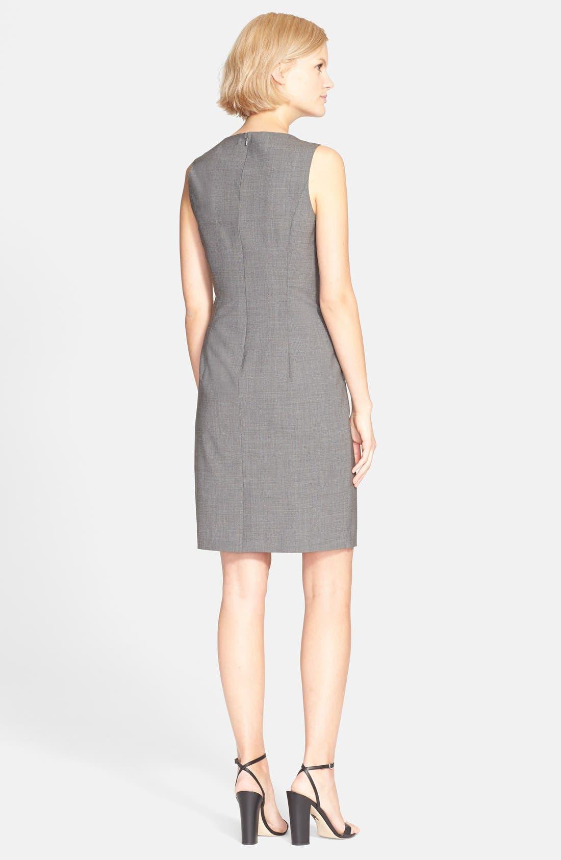 'Betty.2B' Stretch Wool Sheath Dress,                             Alternate thumbnail 8, color,