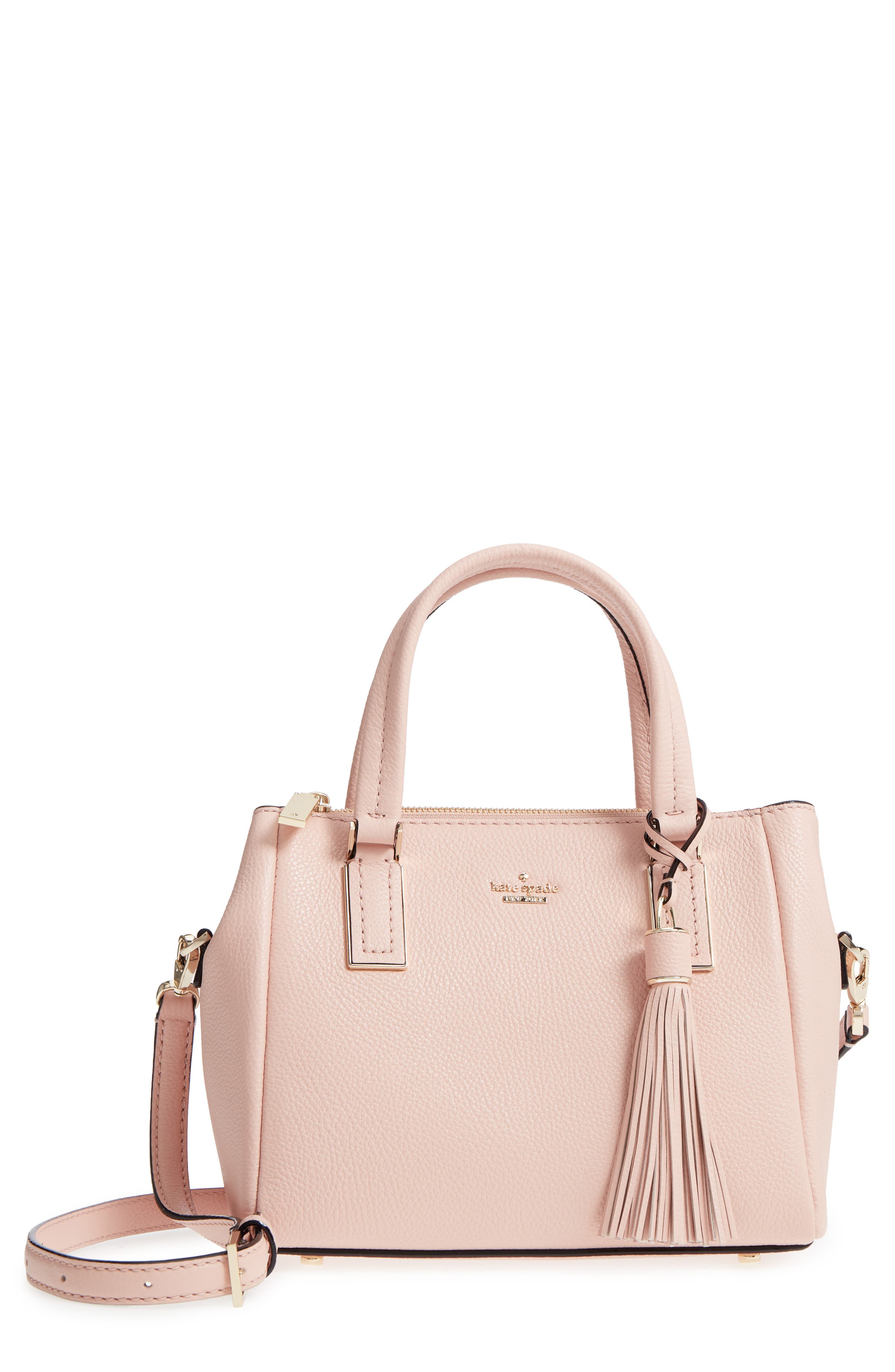 kingston drive - small alena leather satchel,                             Main thumbnail 4, color,