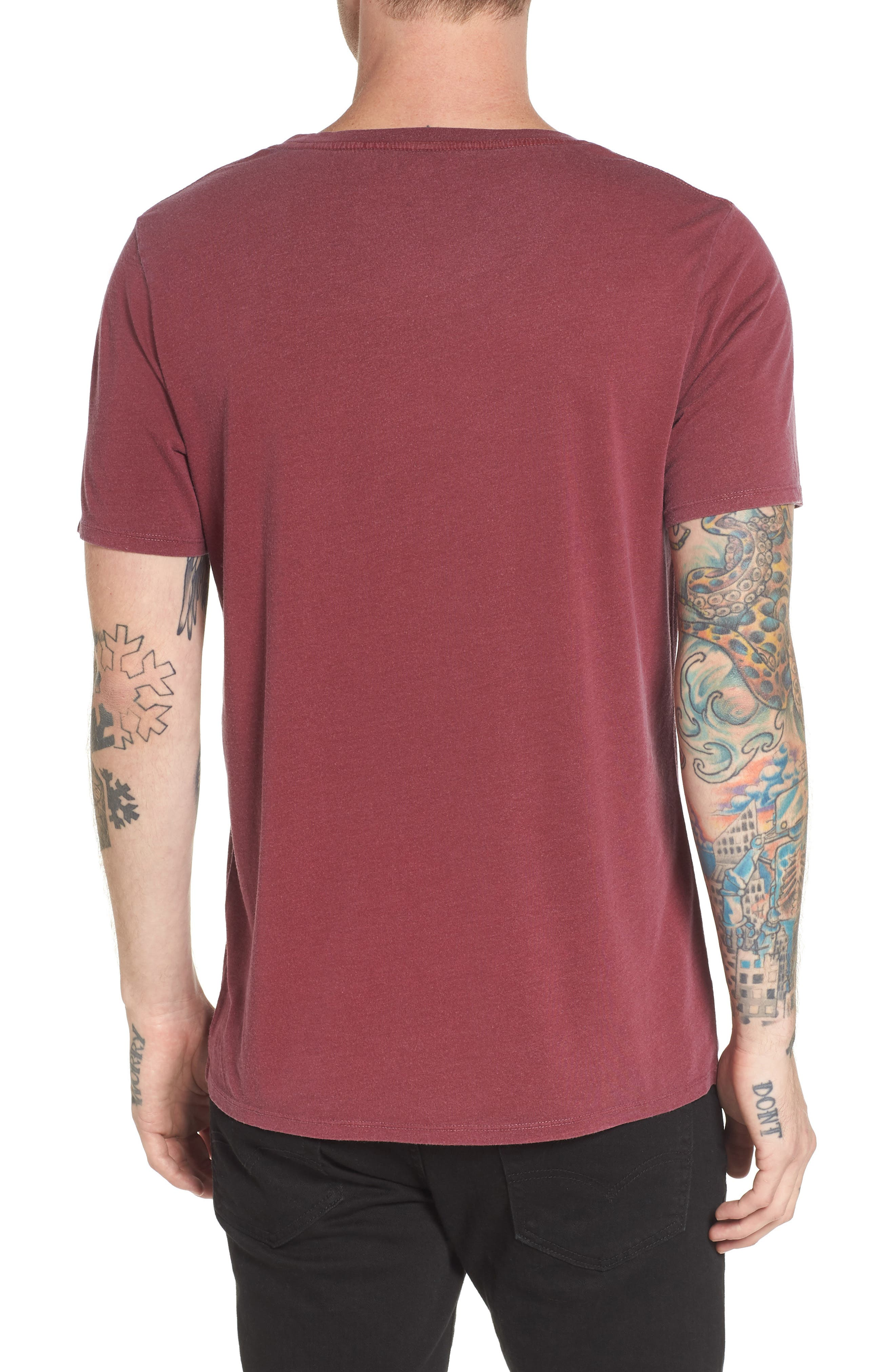 Slim Fit Scoop Neck T-Shirt,                             Alternate thumbnail 4, color,