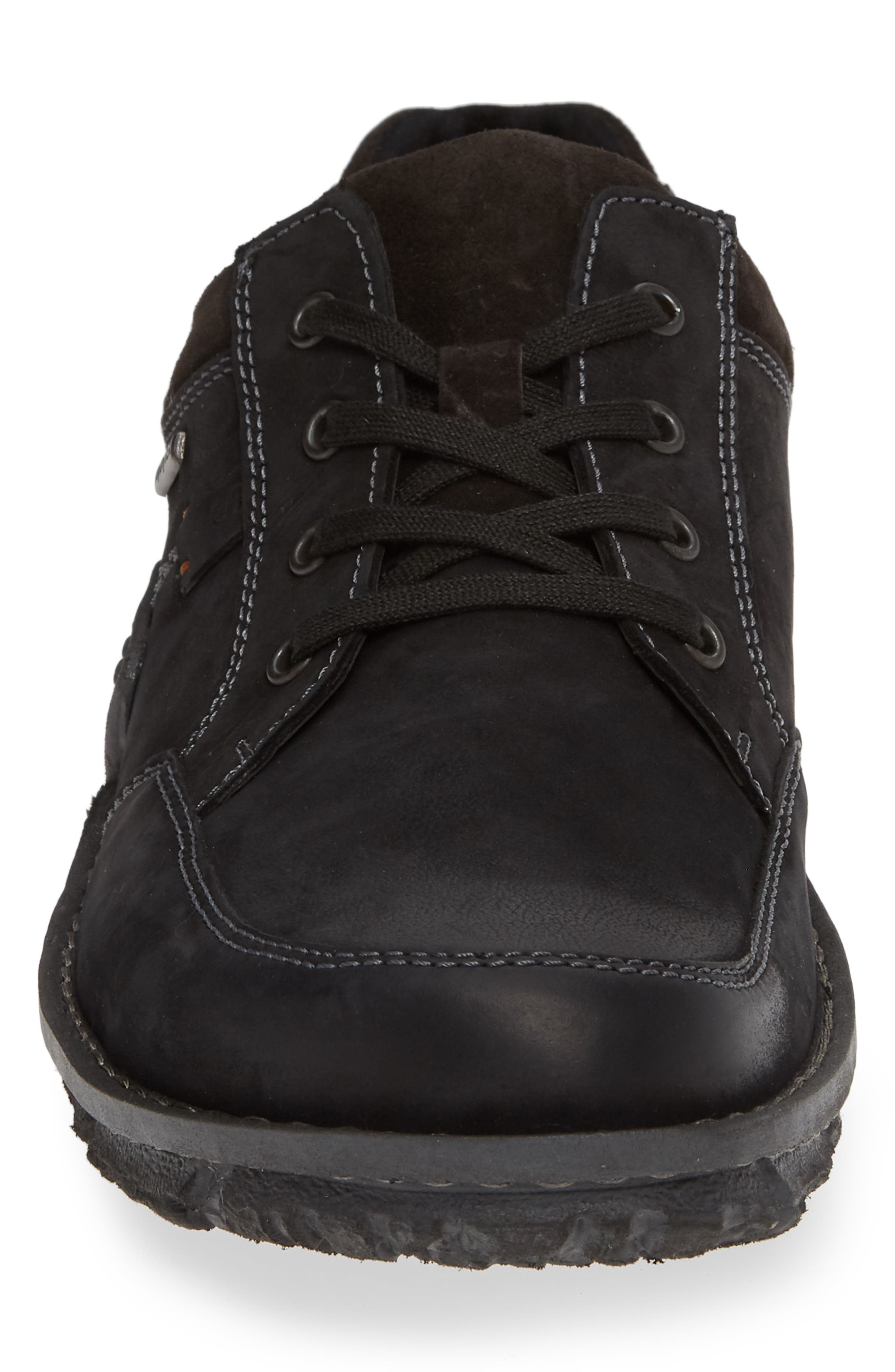 JOSEF SEIBEL,                             Willow 33 Sneaker,                             Alternate thumbnail 4, color,                             BLACK LEATHER