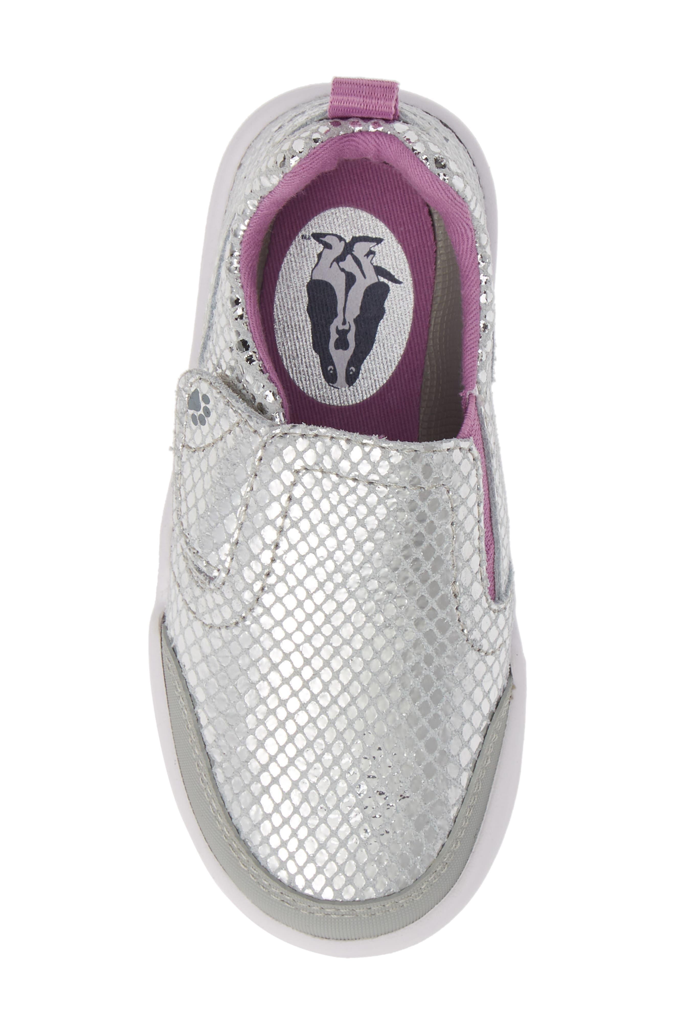 Marley Metallic Sneaker,                             Alternate thumbnail 5, color,                             SILVER