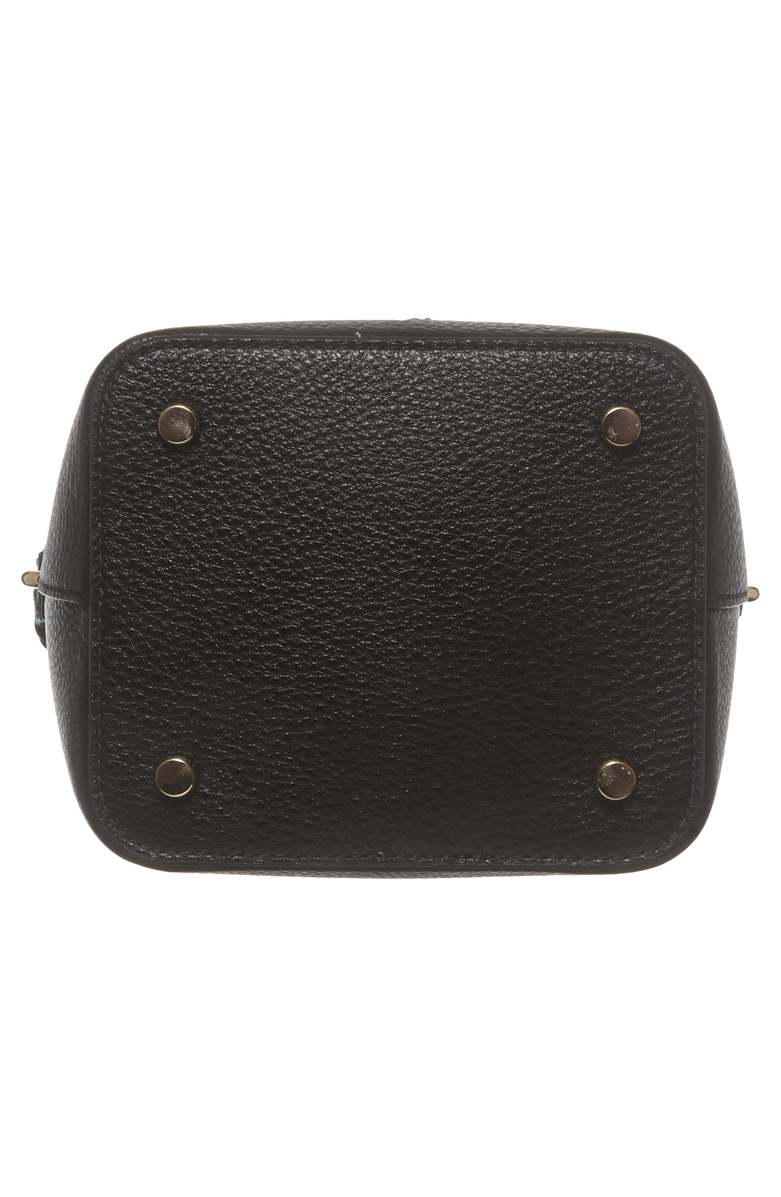 hayes street - pippa leather bucket bag,                             Alternate thumbnail 6, color,                             001