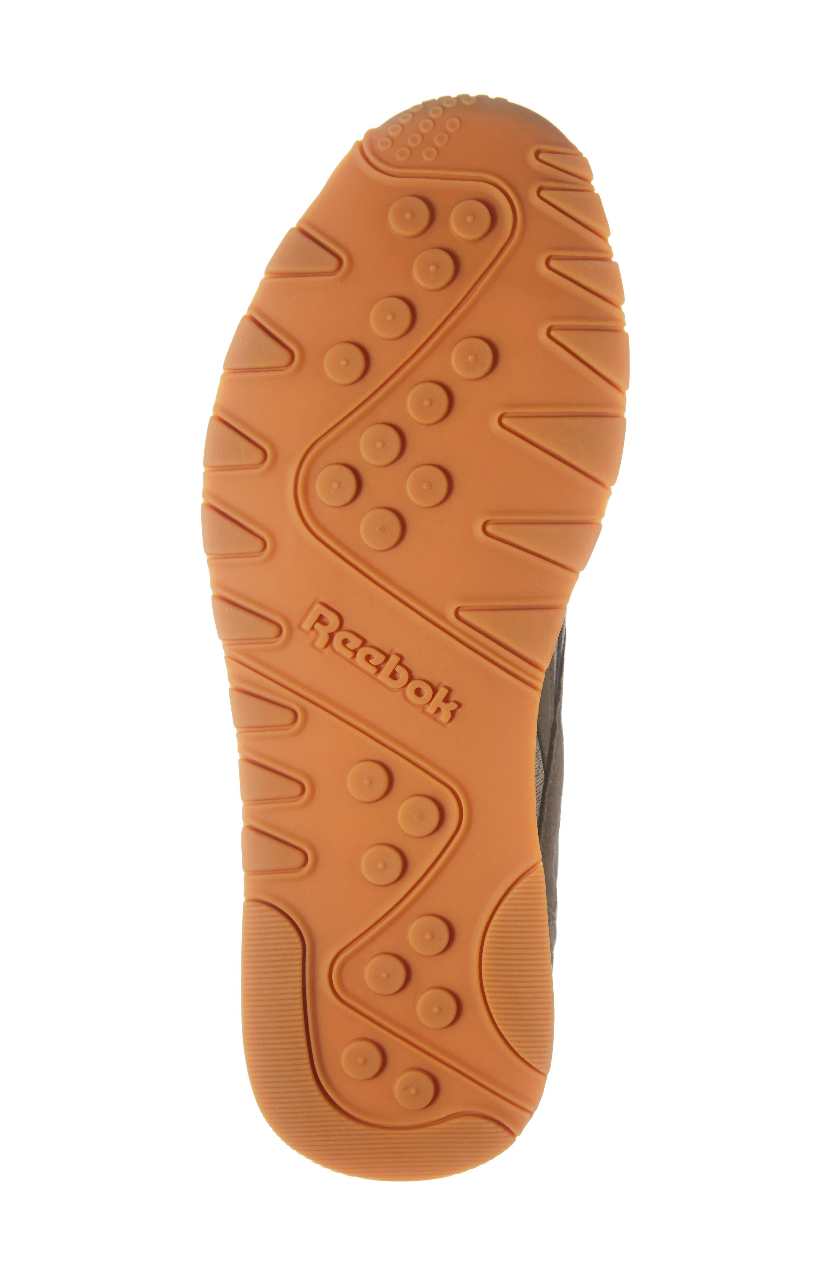 Classic Leather Nylon SG Sneaker,                             Alternate thumbnail 6, color,                             TERRAIN GREY/ CHALK