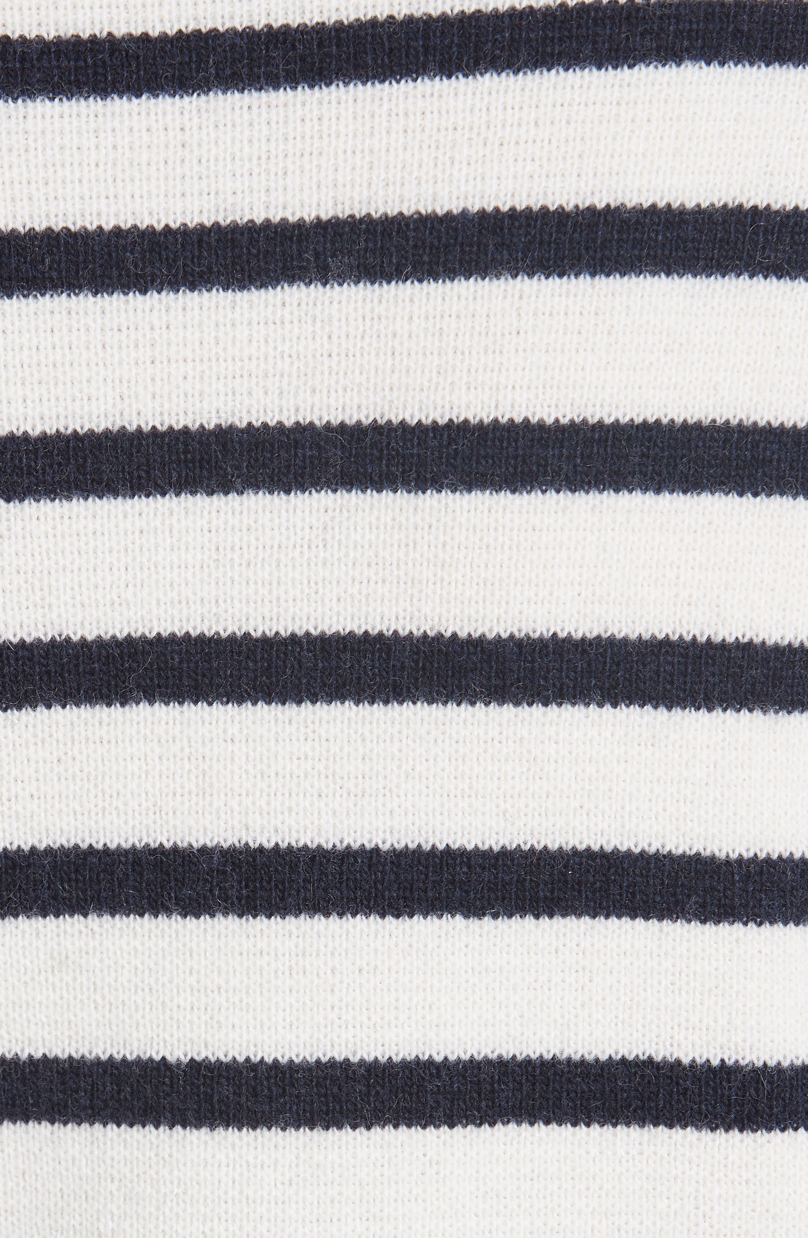 Stripe Knit Sweater,                             Alternate thumbnail 5, color,                             EGRET 135