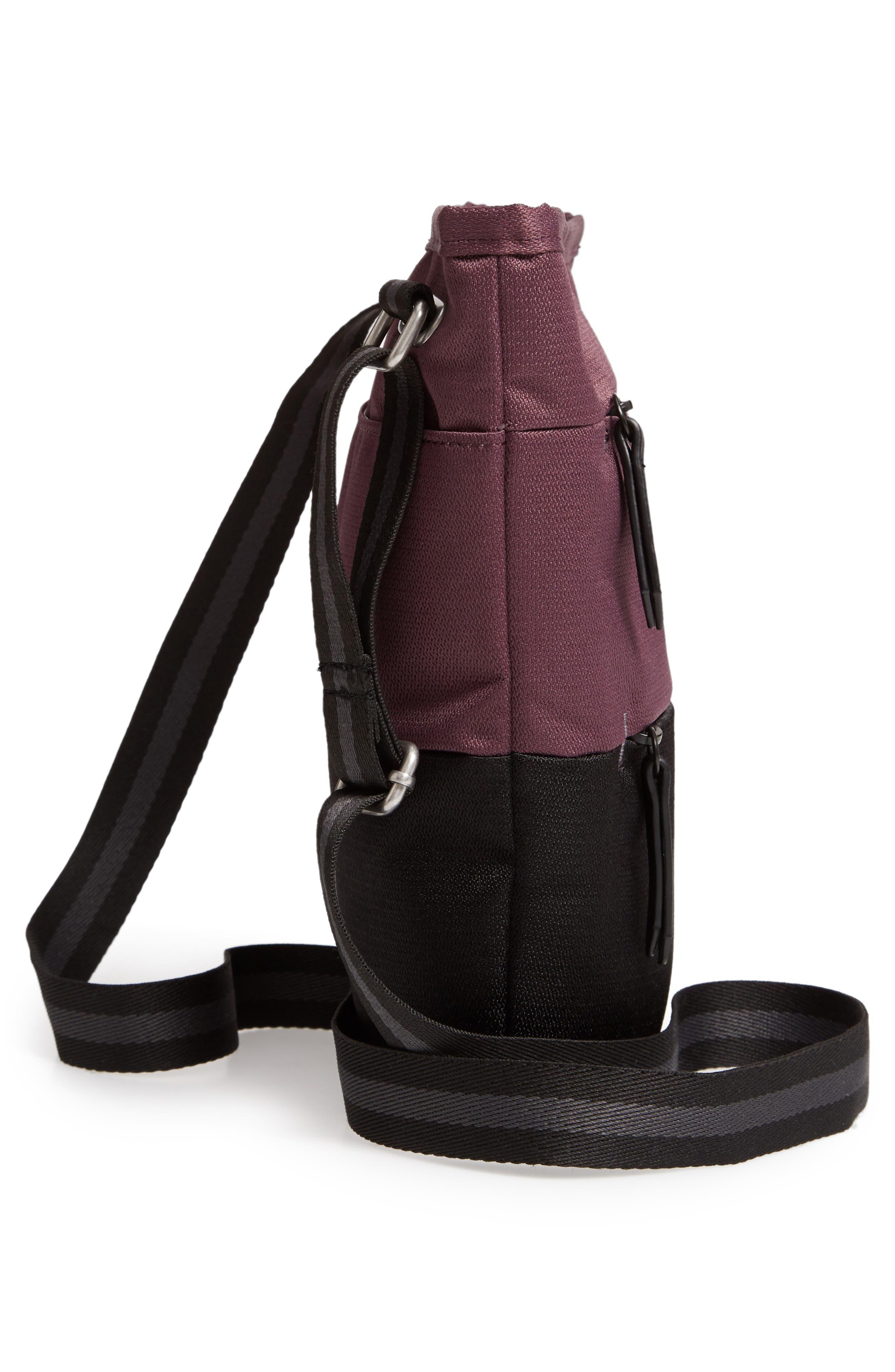 Sadie Medium RFID Crossbody Bag,                             Alternate thumbnail 5, color,                             PURPLE DAHLIA/ BLACK