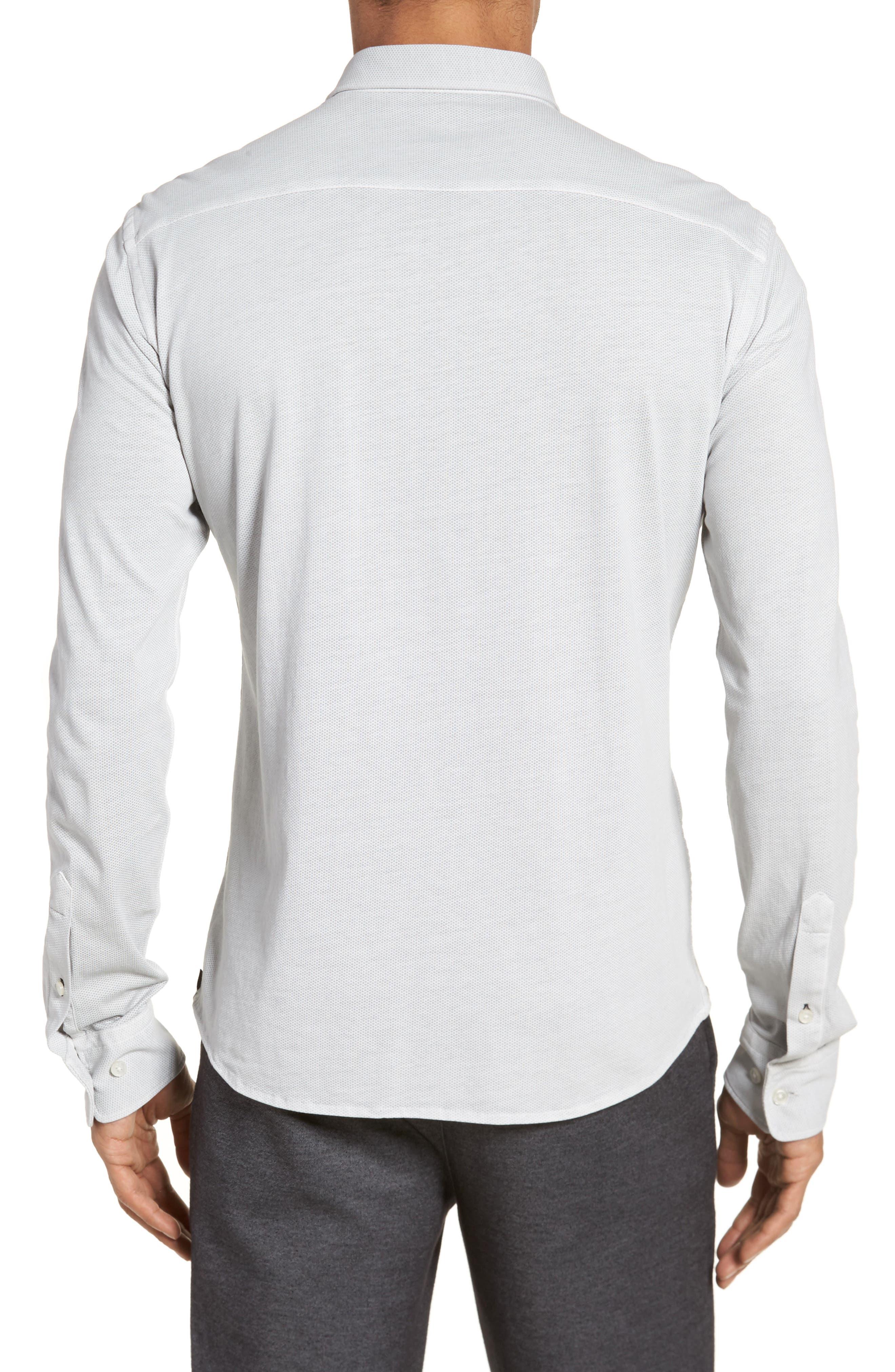 Reid Slim Fit Solid Sport Shirt,                             Alternate thumbnail 2, color,                             071