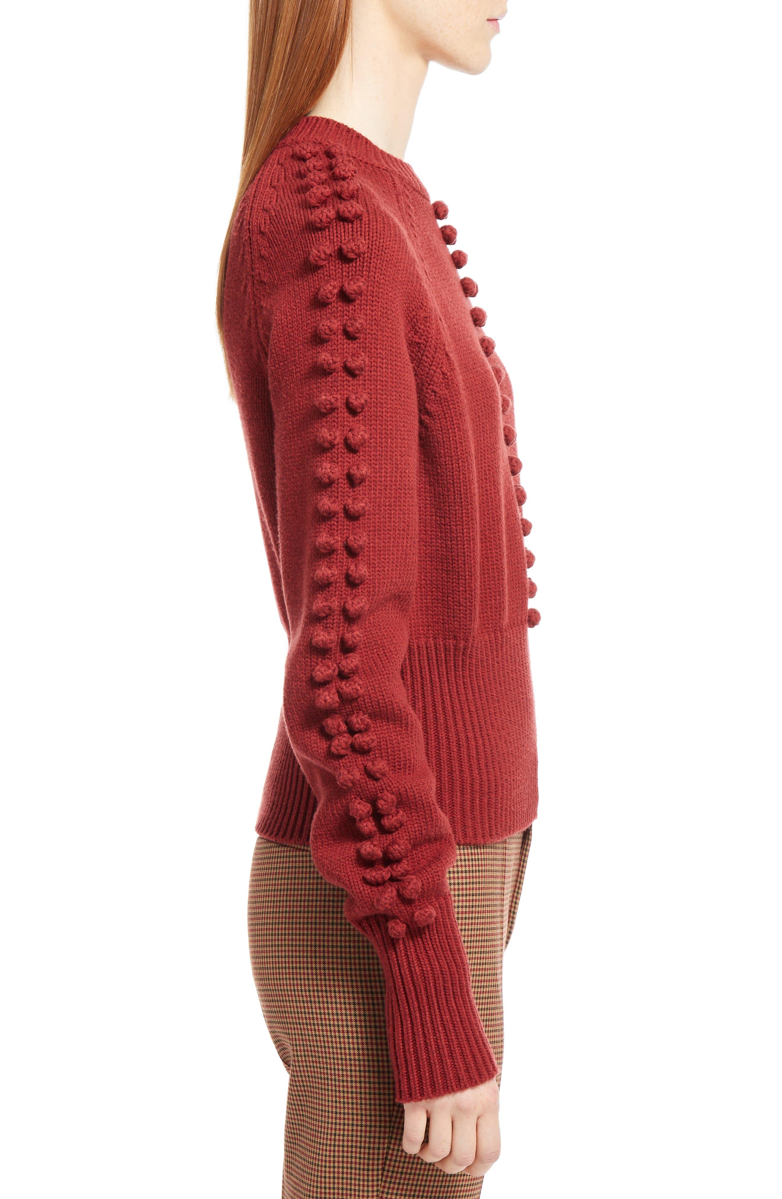 Bobble Knit Sweater,                             Alternate thumbnail 3, color,                             620