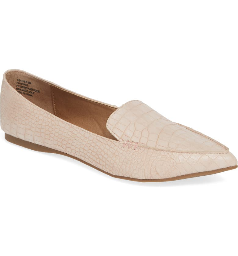 Shop For Steve Madden Feather Loafer Flat (Women) Great price