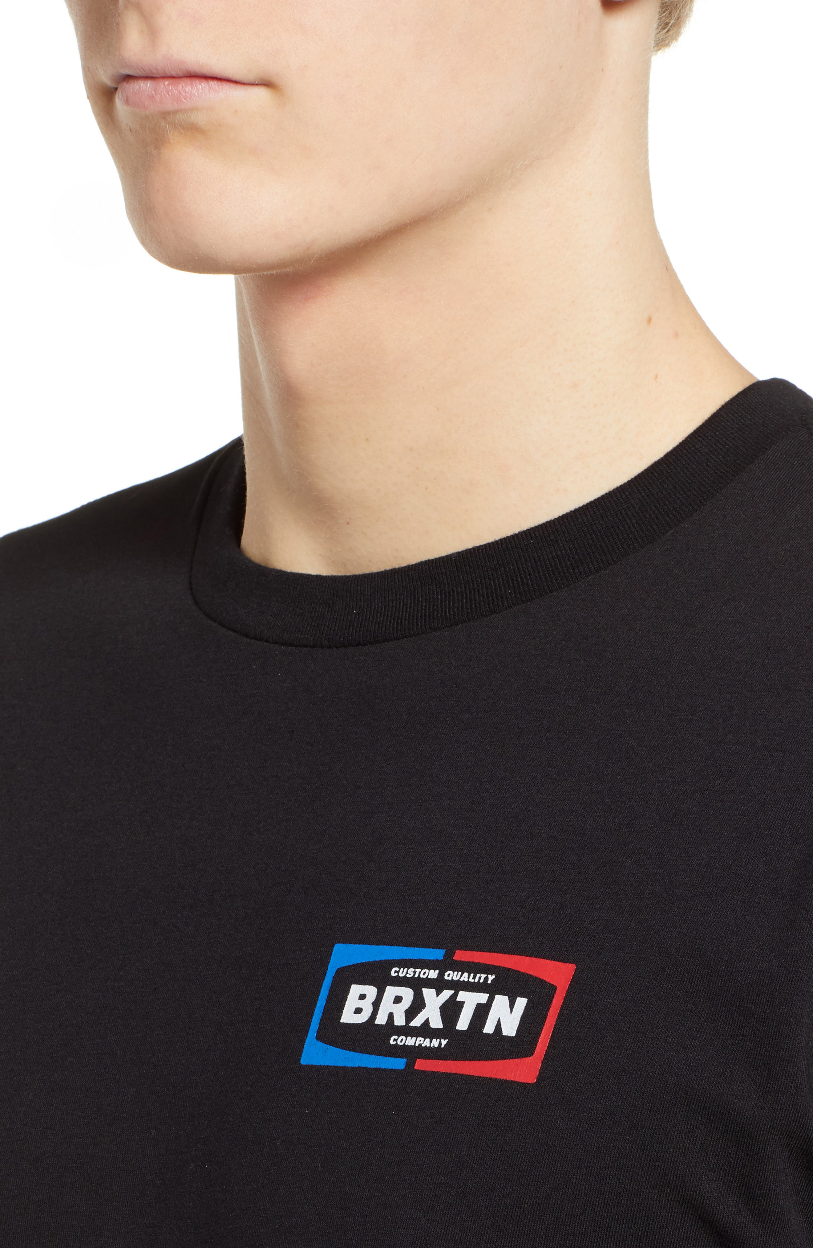 Dozer Logo T-Shirt,                             Alternate thumbnail 4, color,                             BLACK