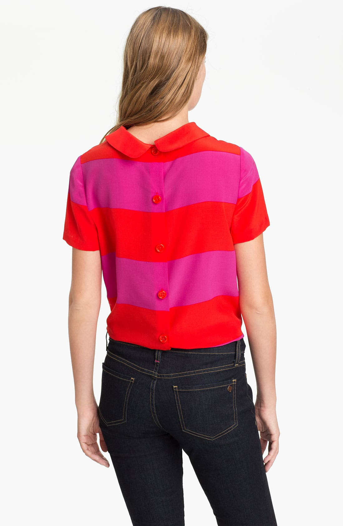 'martina' silk top,                             Alternate thumbnail 2, color,                             677