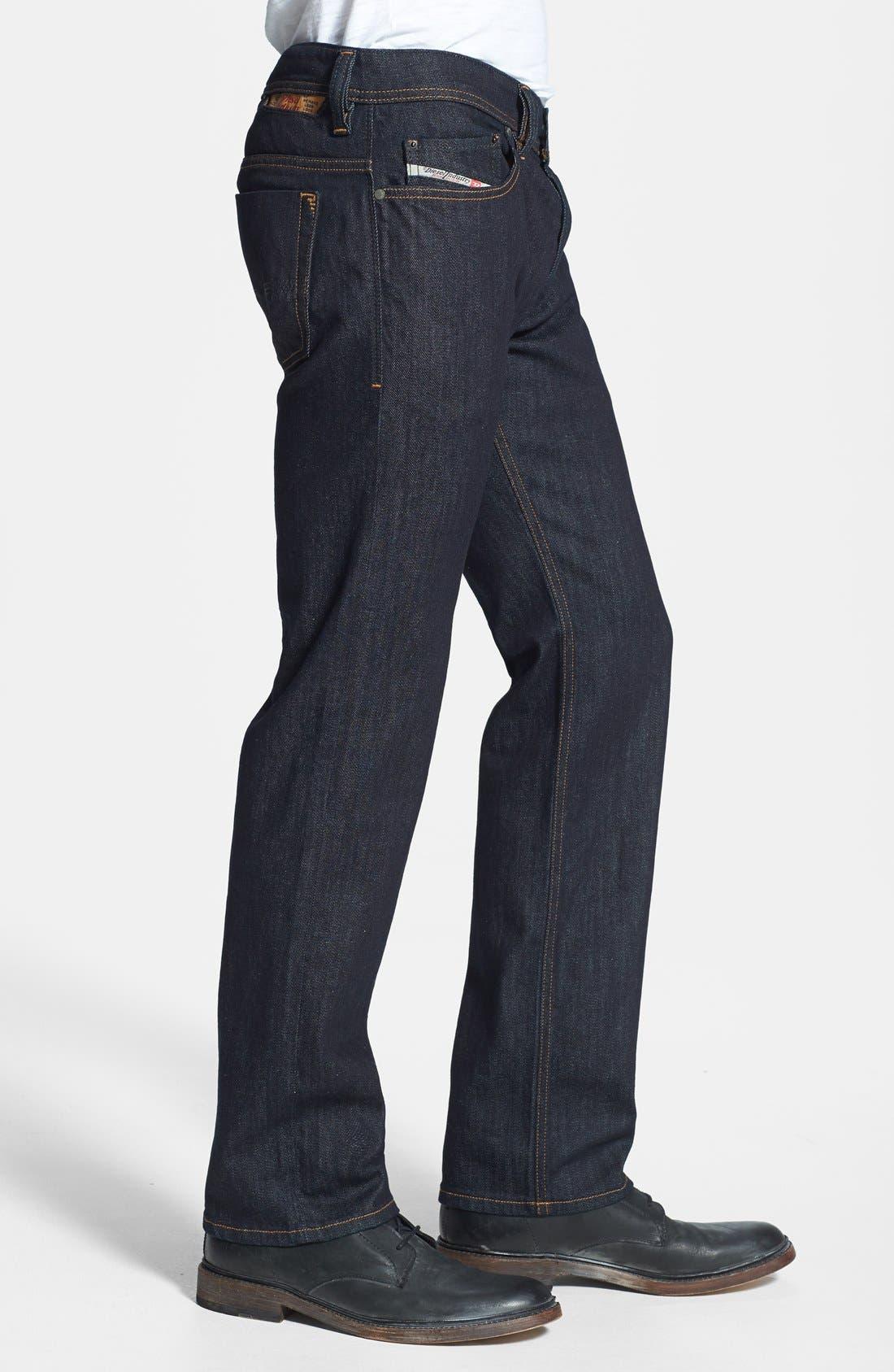 'Safado' Slim Fit Selvedge Jeans,                             Alternate thumbnail 3, color,                             400