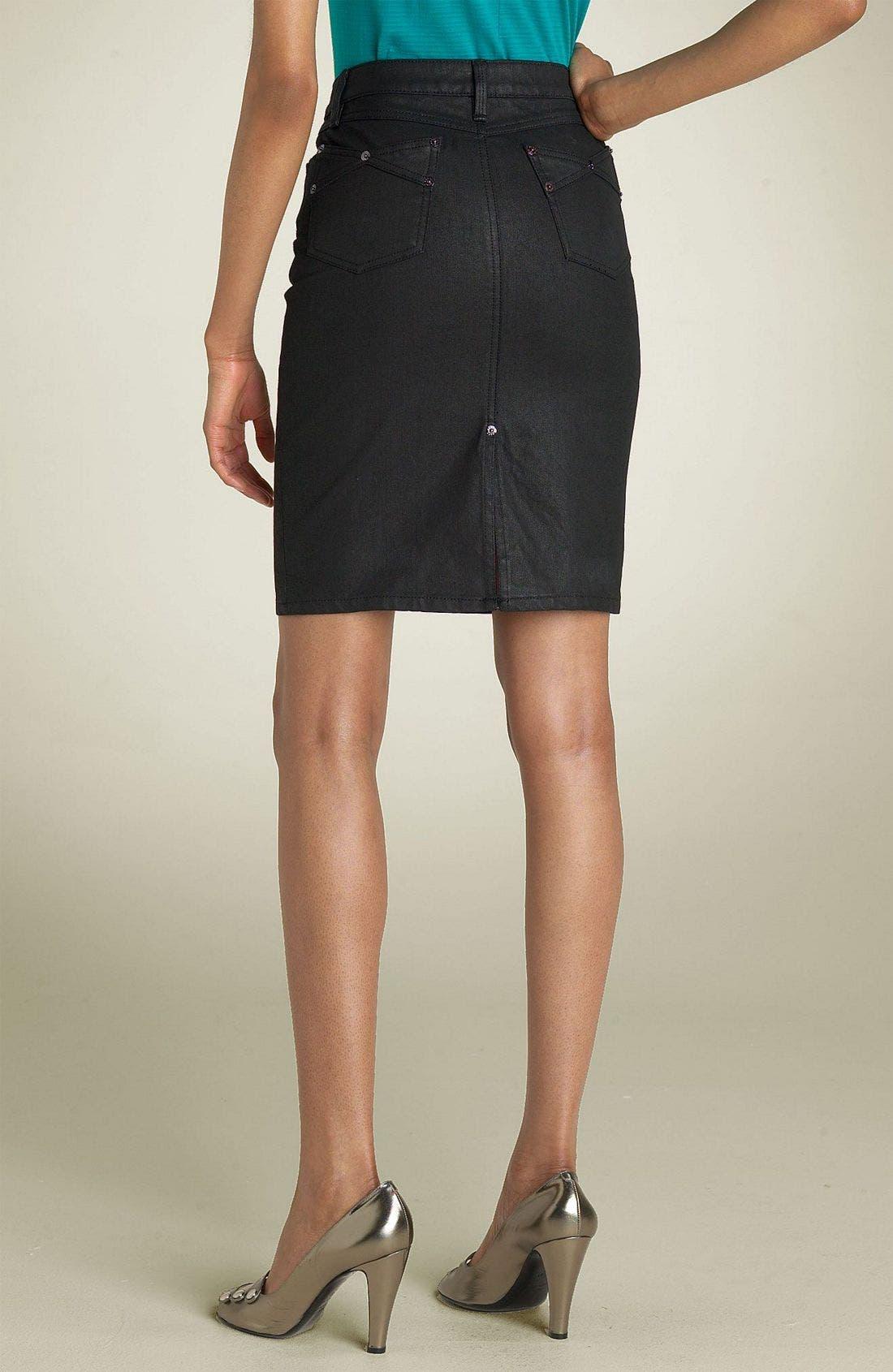 Denim Skirt,                             Alternate thumbnail 2, color,                             001
