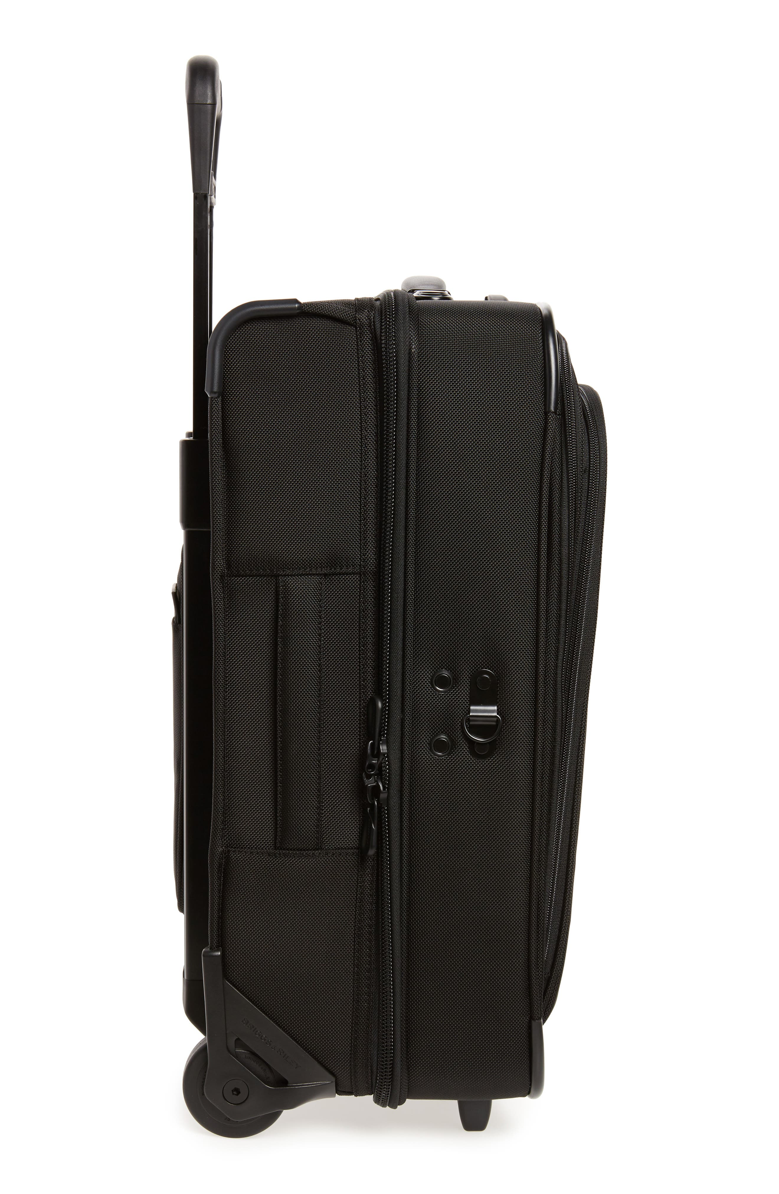 'Baseline - Domestic' Rolling Carry-On Garment Bag,                             Alternate thumbnail 3, color,                             BLACK