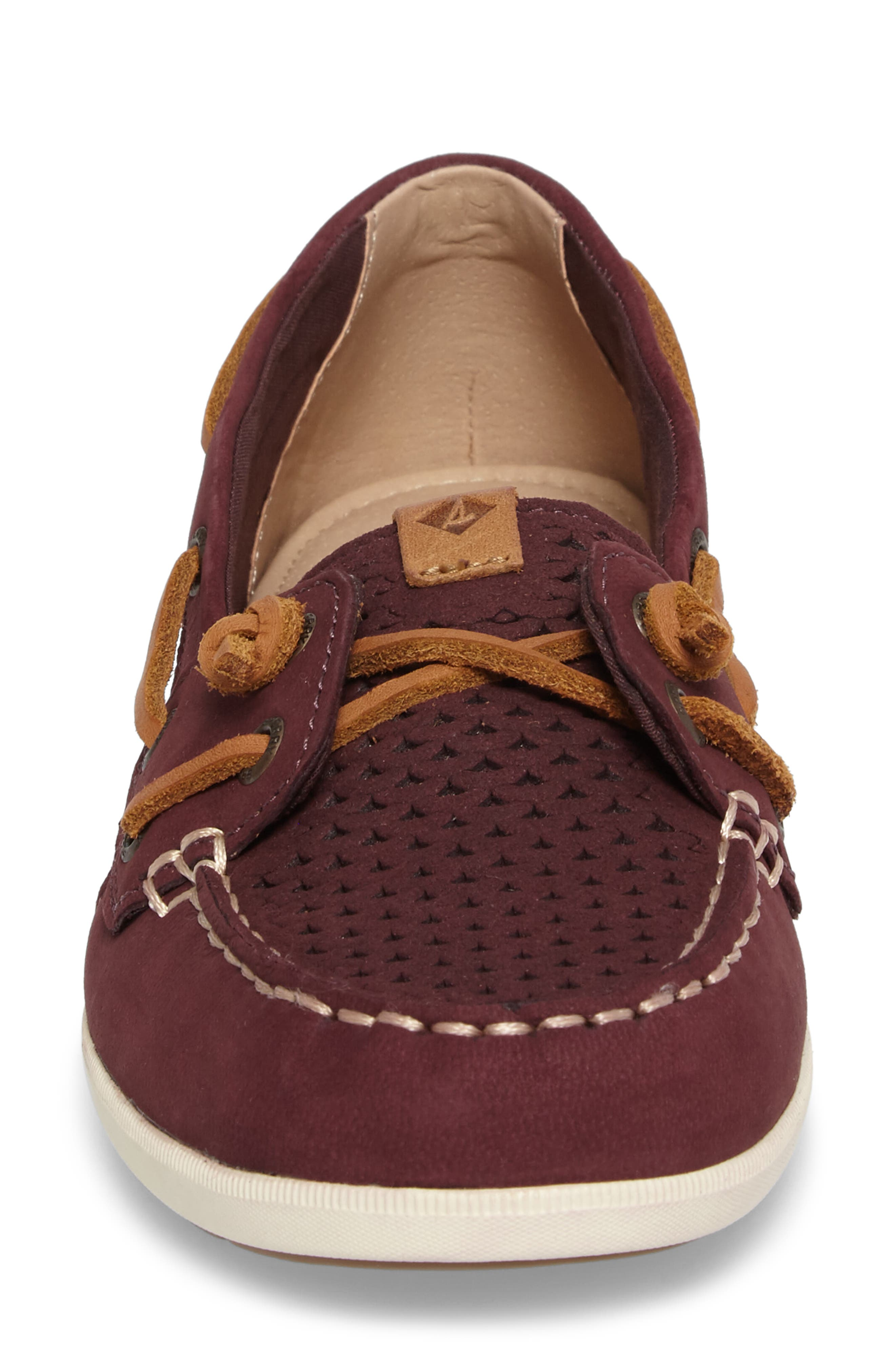 Coil Ivy Perforated Boat Shoe,                             Alternate thumbnail 4, color,
