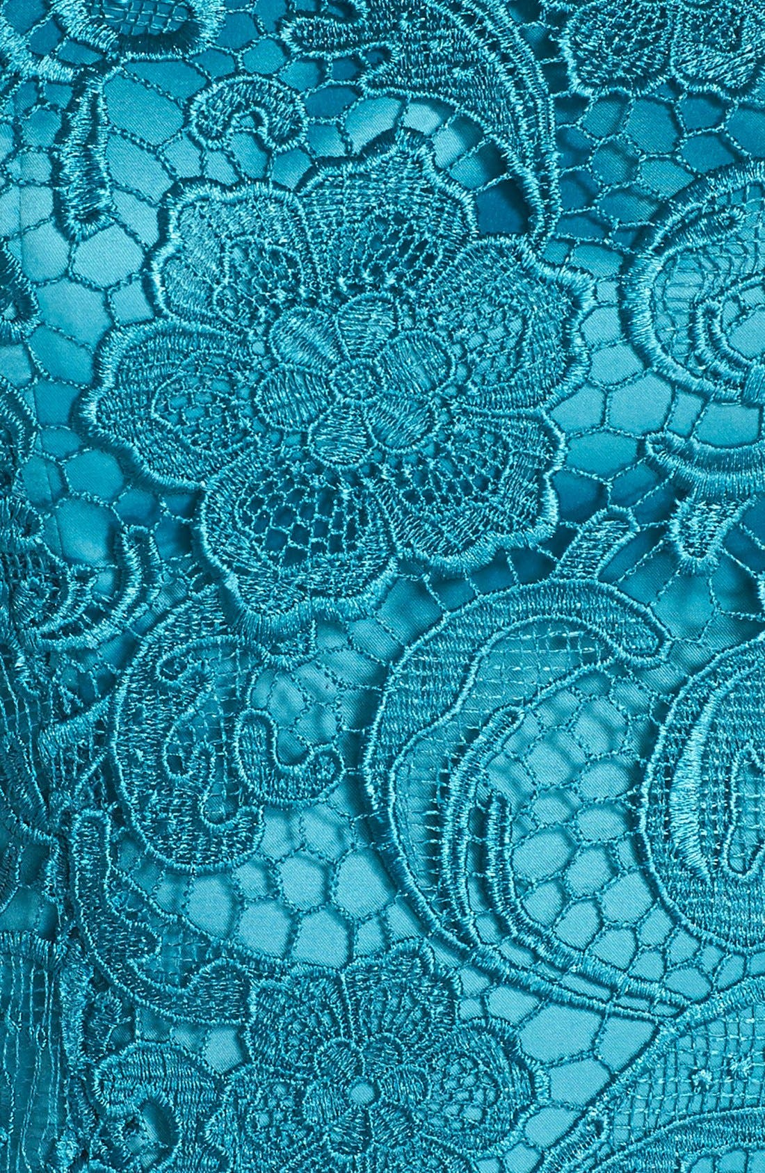 Illusion Bodice Lace Sheath Dress,                             Alternate thumbnail 43, color,