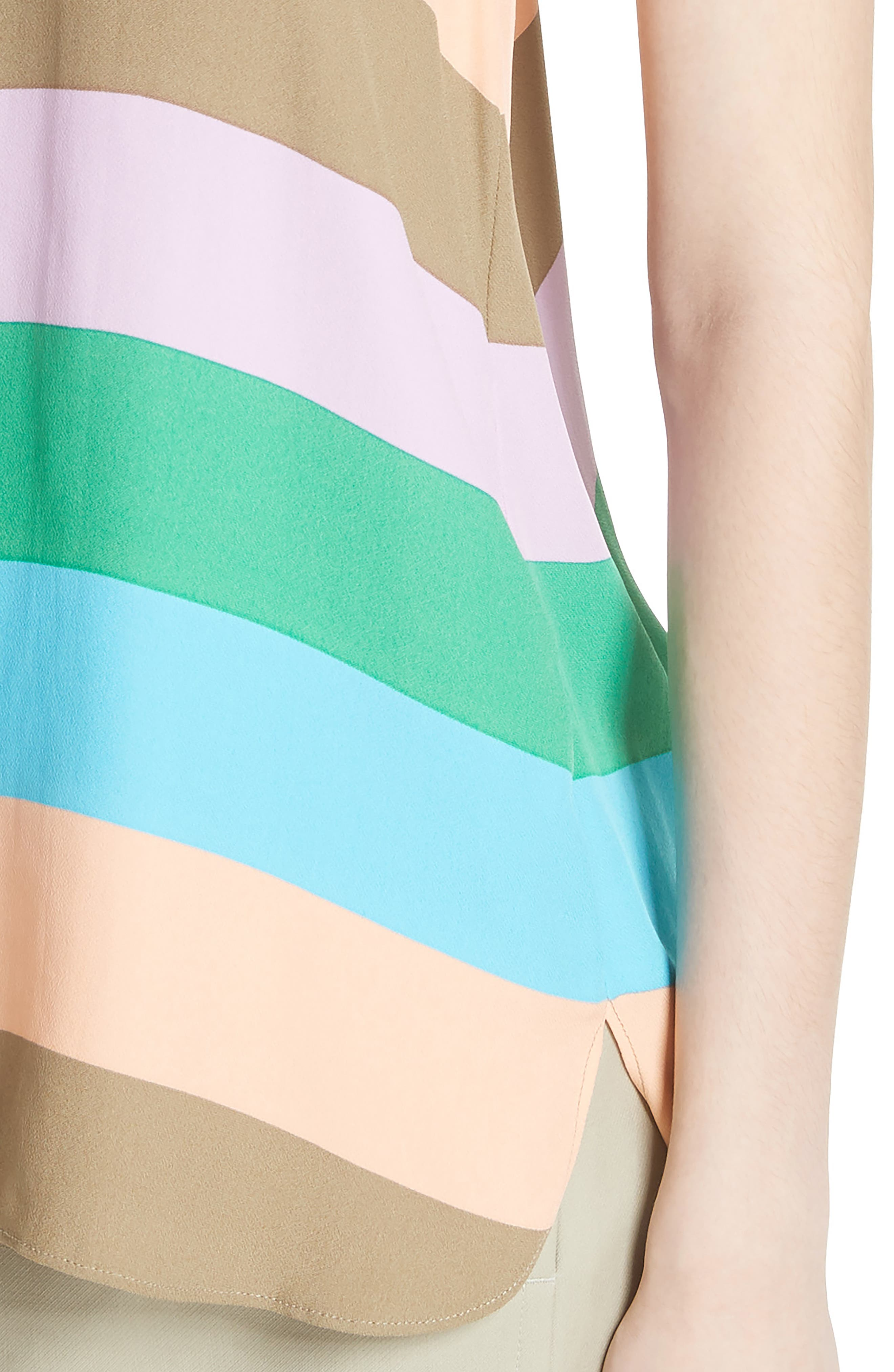 Julian Stripe Tank,                             Alternate thumbnail 4, color,                             620