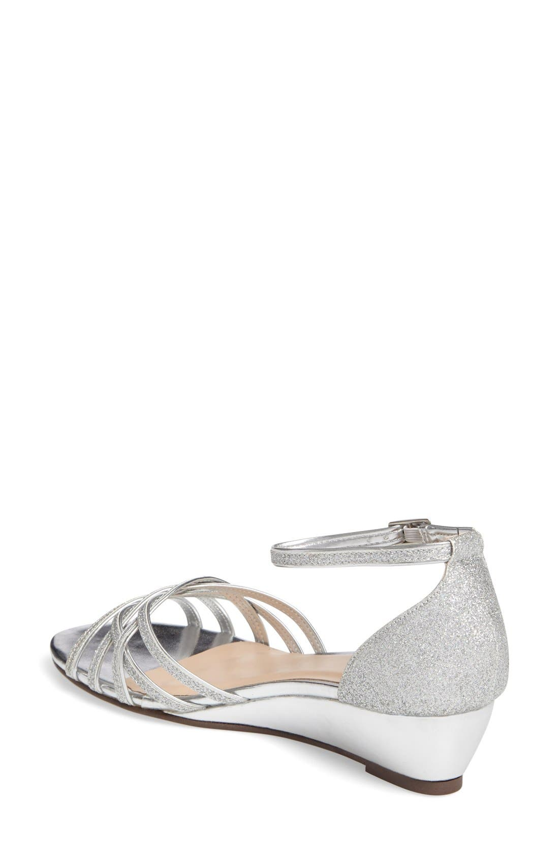 Avery Wedge Sandal,                             Alternate thumbnail 2, color,                             SILVER