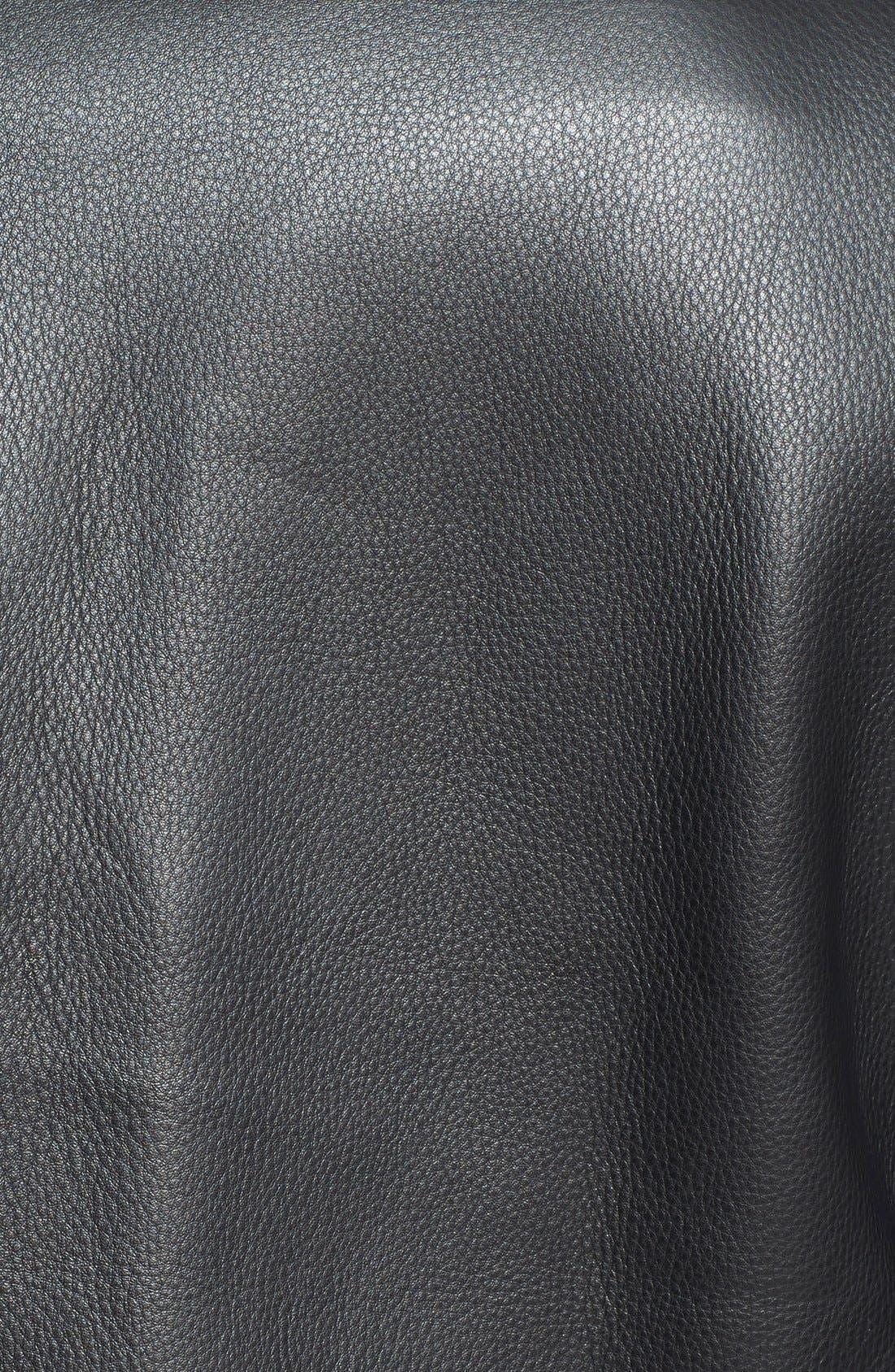 'Chips' Slim Fit Moto Leather Jacket,                             Alternate thumbnail 3, color,                             001